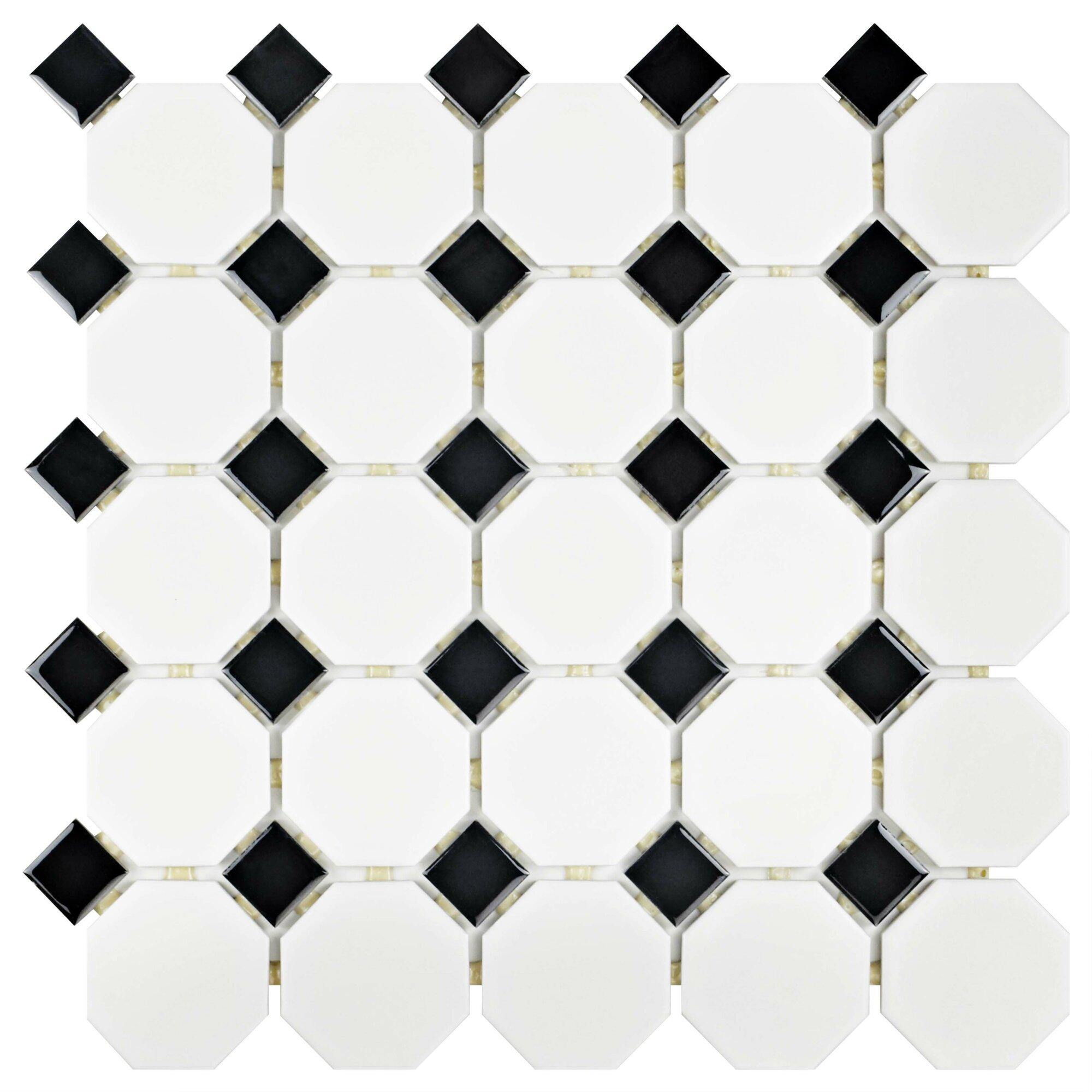 Elitetile Retro 11 5 Quot X 11 5 Quot Porcelain Mosaic Tile In