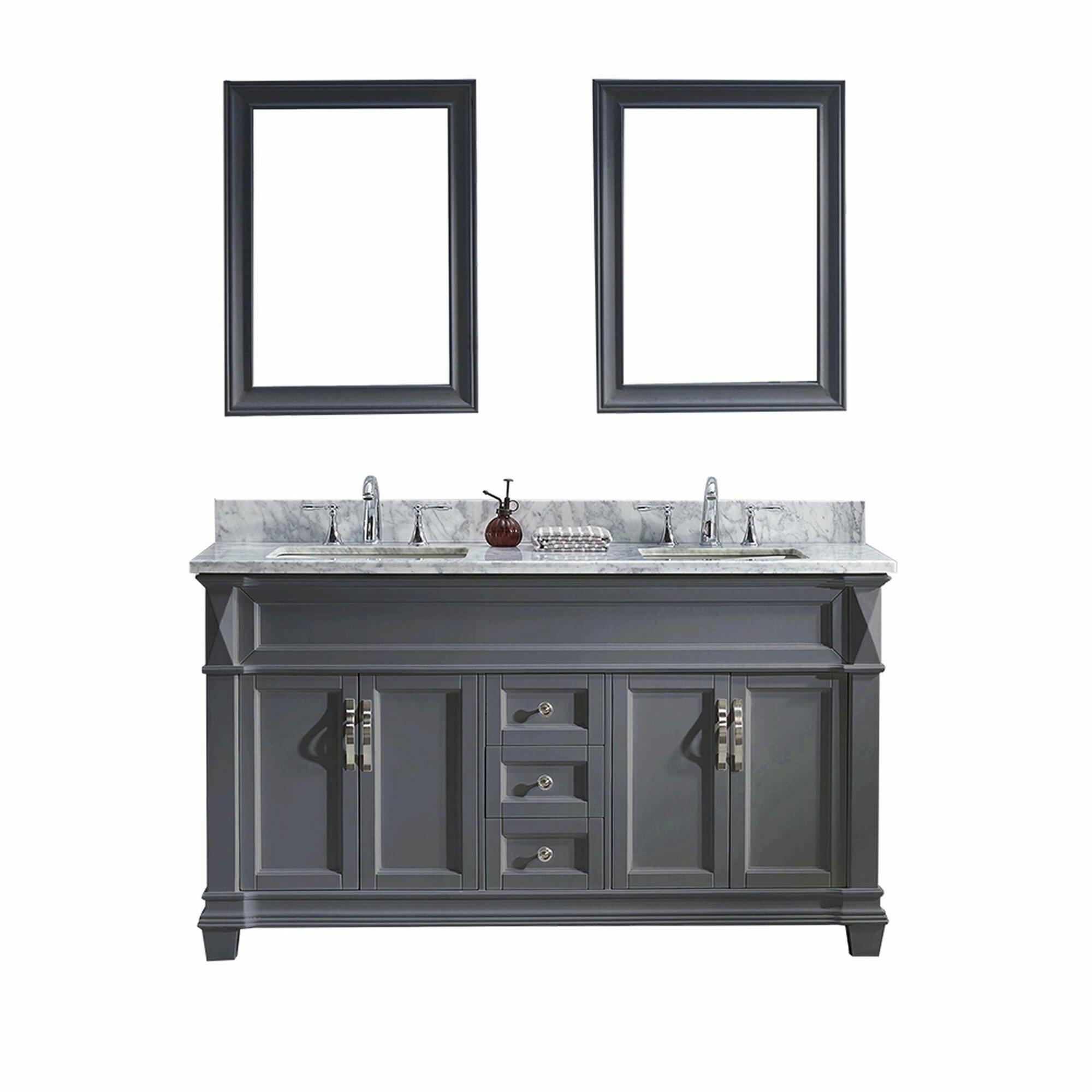 Virtu Usa Victoria 61 Quot Double Bathroom Vanity Set With