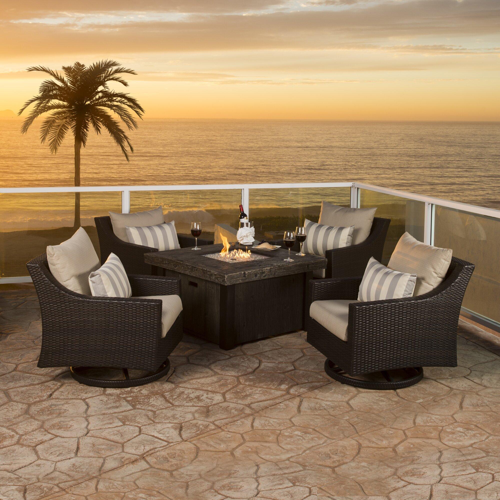 Patio Furniture Near Northridge Ca: Three Posts Northridge 5 Piece Deep Seating Group With