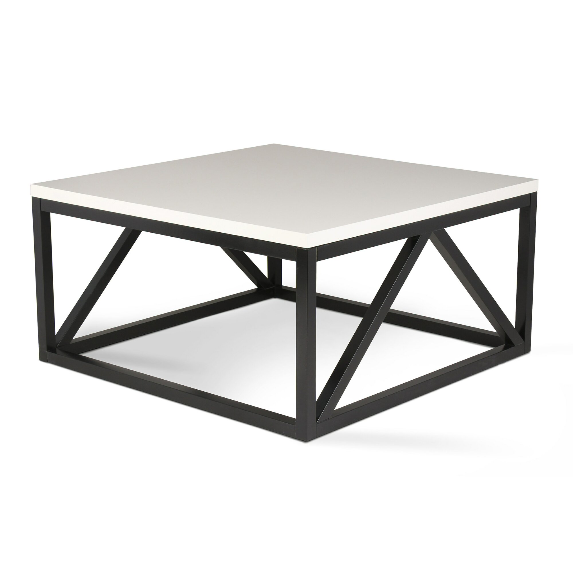 Kate and Laurel Kaya Two Toned Wood Square Coffee TableReviews