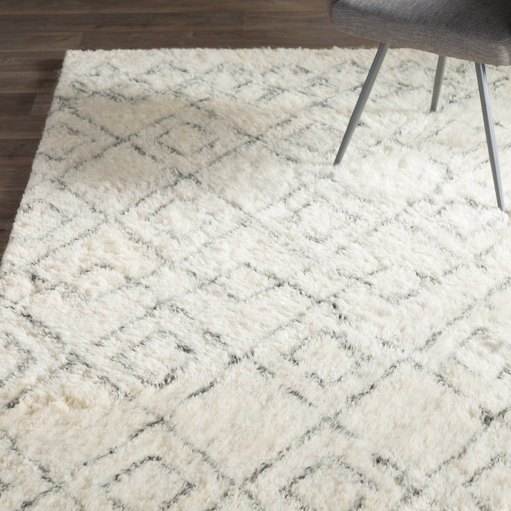 Mercury Row Gholston White Grey Area Rug Amp Reviews Wayfair