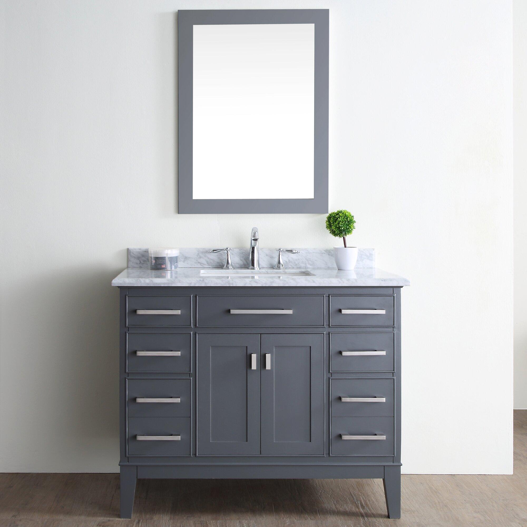 Ari Kitchen Bath Danny 42 Single Bathroom Vanity Set Reviews Wayfair