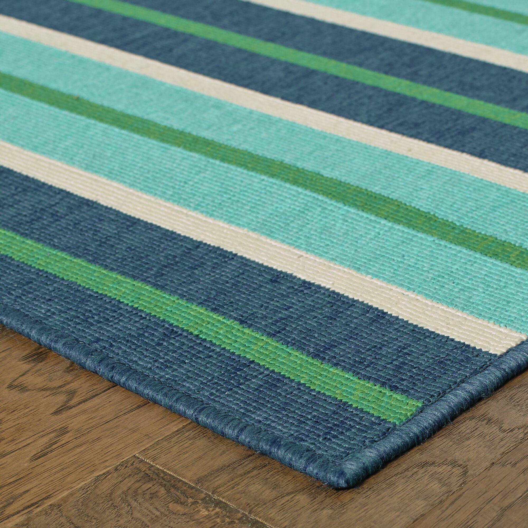 Cortlandt blue green indoor outdoor area rug reviews for Indoor outdoor carpet green
