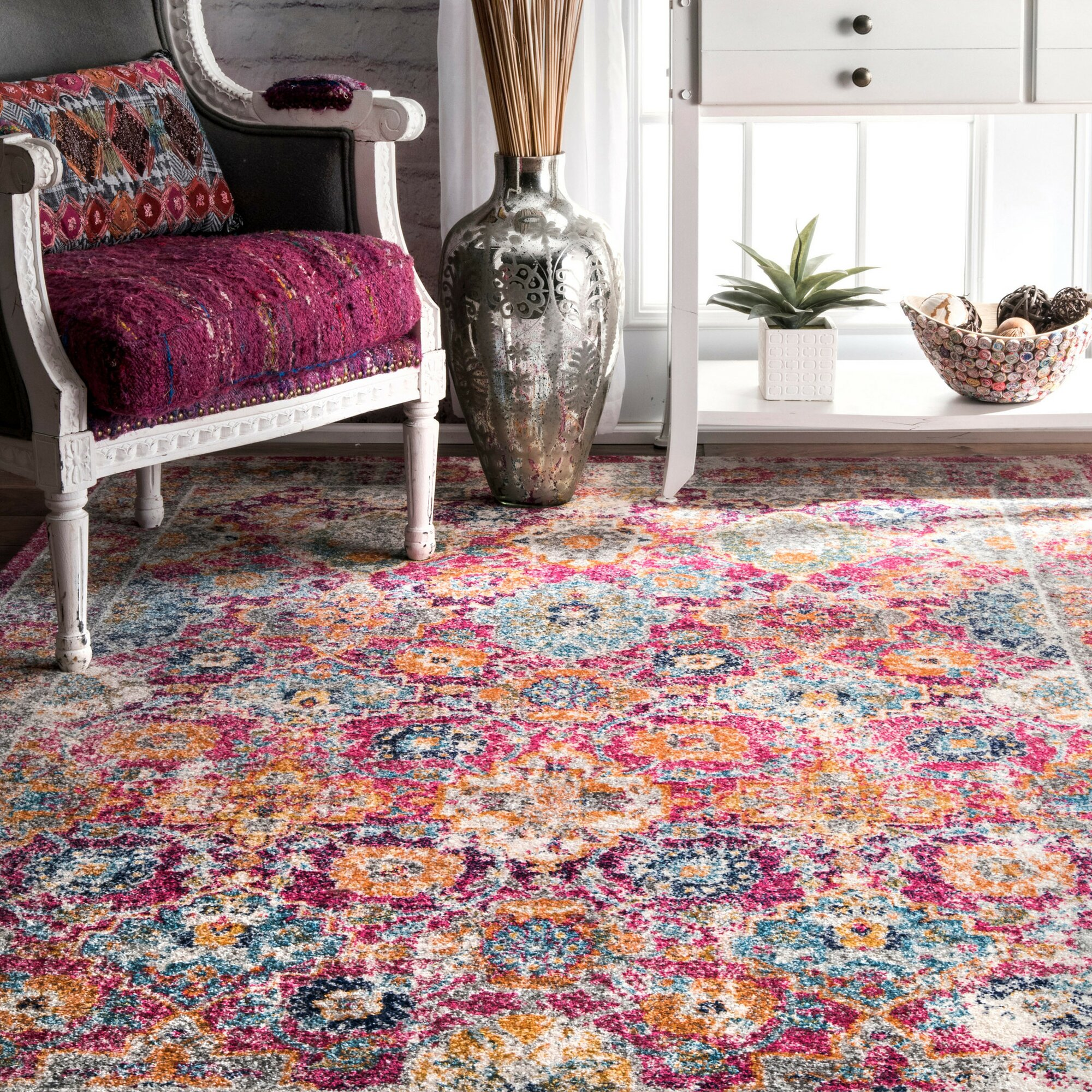 Mistana Paige Pink Area Rug & Reviews
