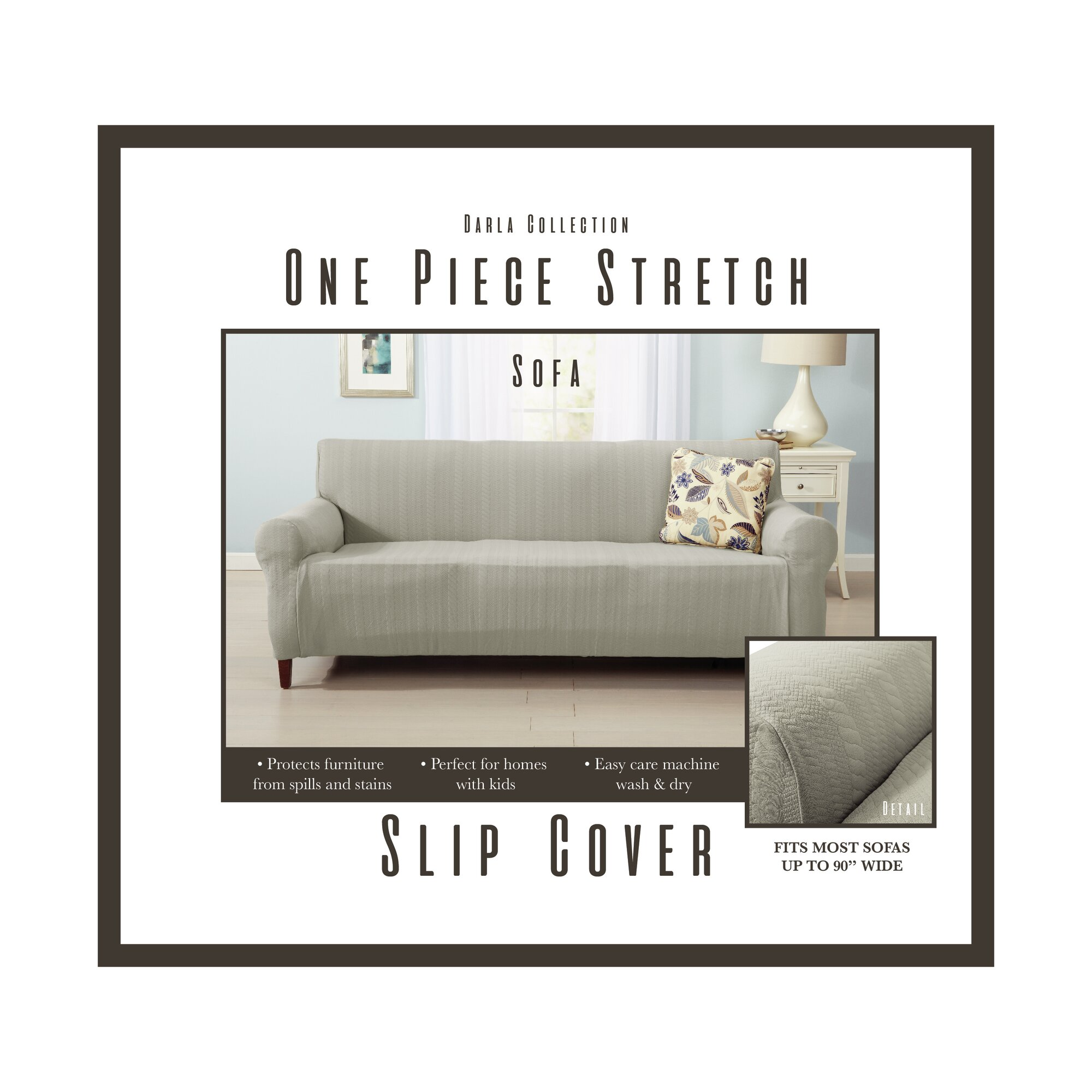 Sofa Slipcover Sure Fit Classic Duck Washable Sofa Slipcover