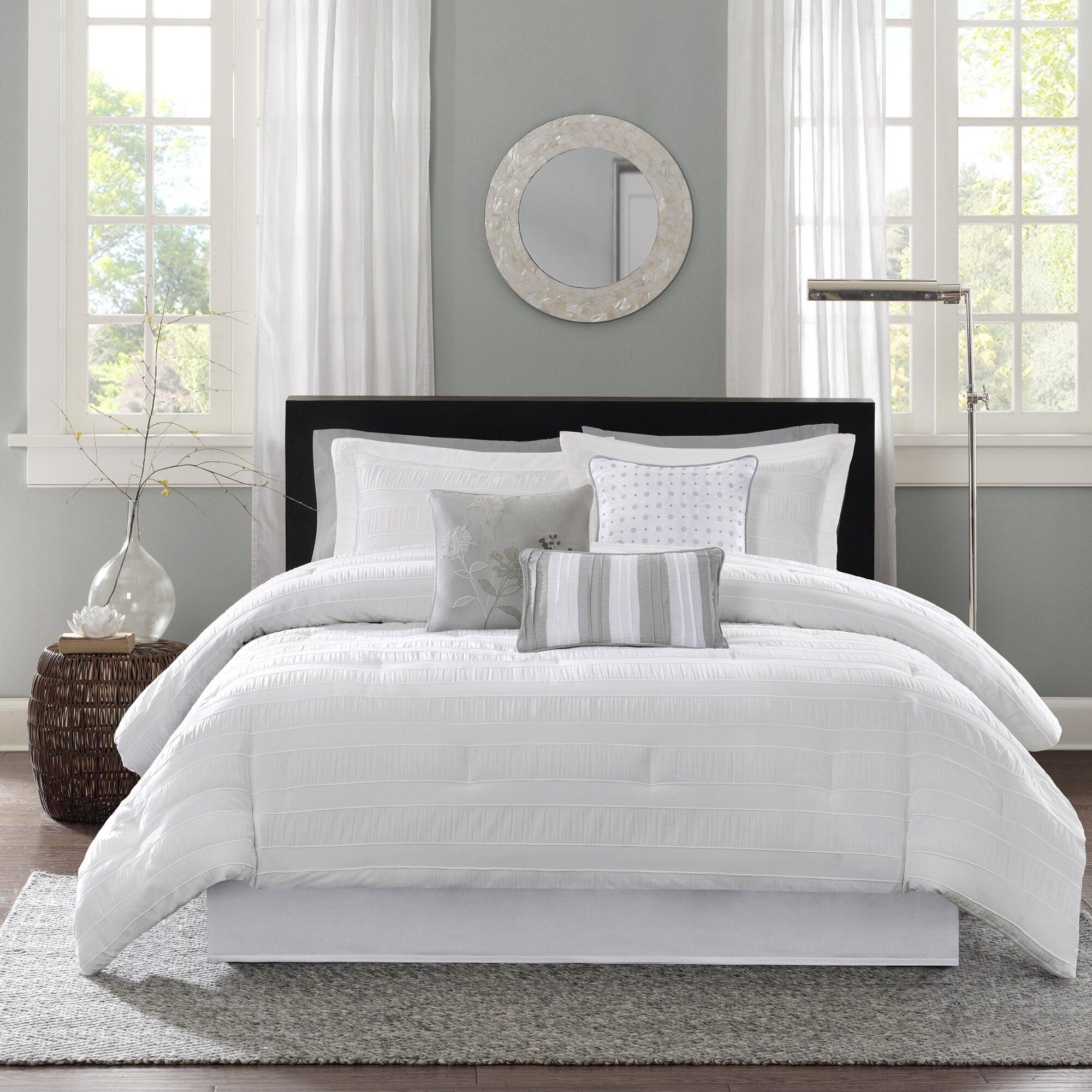 Yellow and grey bedding twin - Rochelle Comforter Set