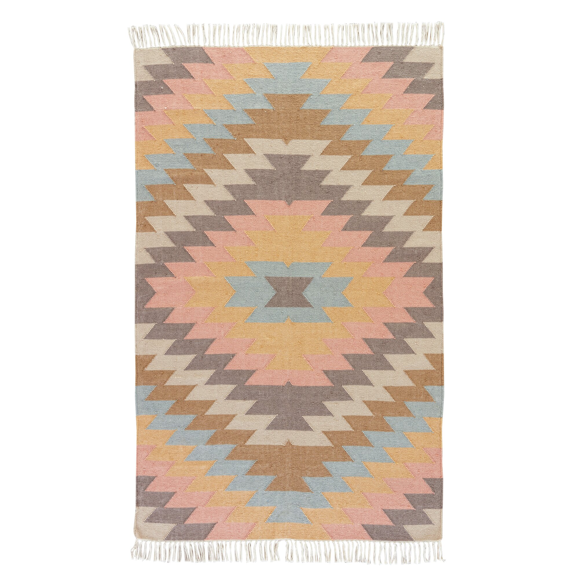 Boquillas Blue & Orange Tribal Indoor Outdoor Area Rug