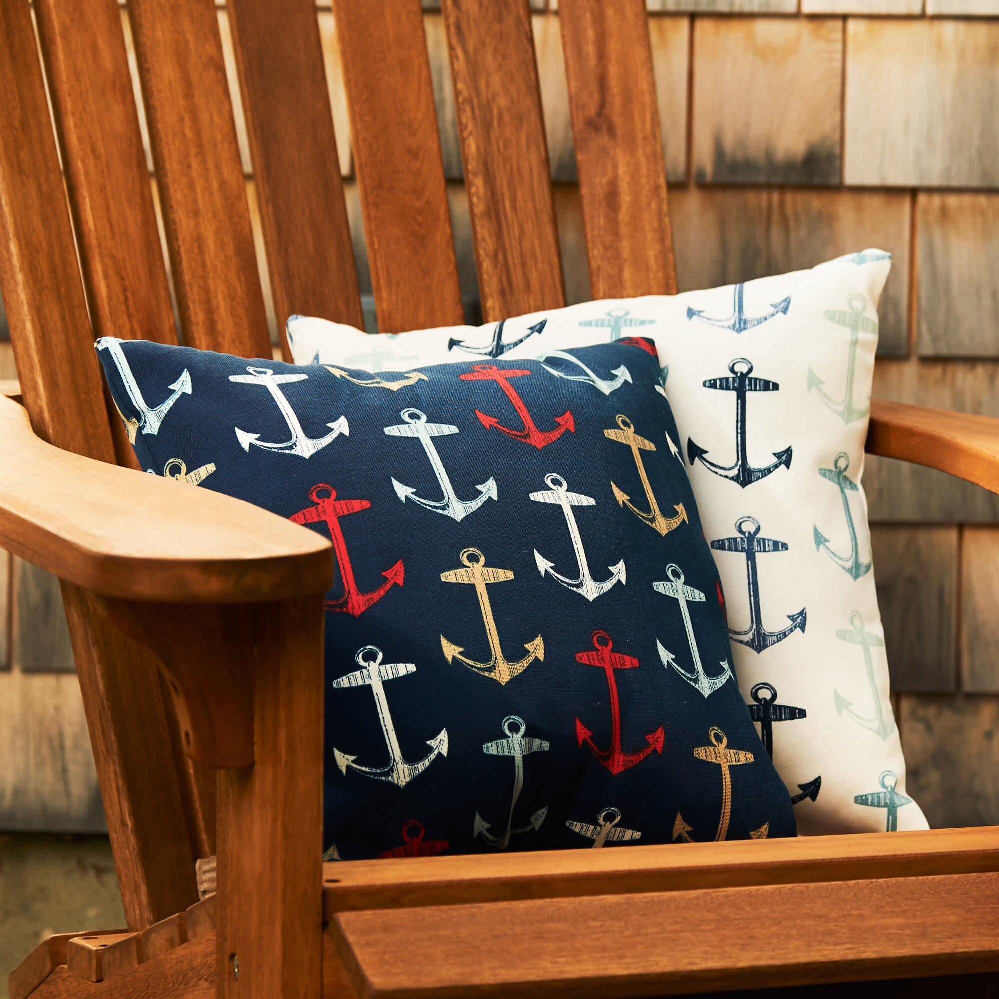 Anchors Away Throw Pillow & Reviews Birch Lane