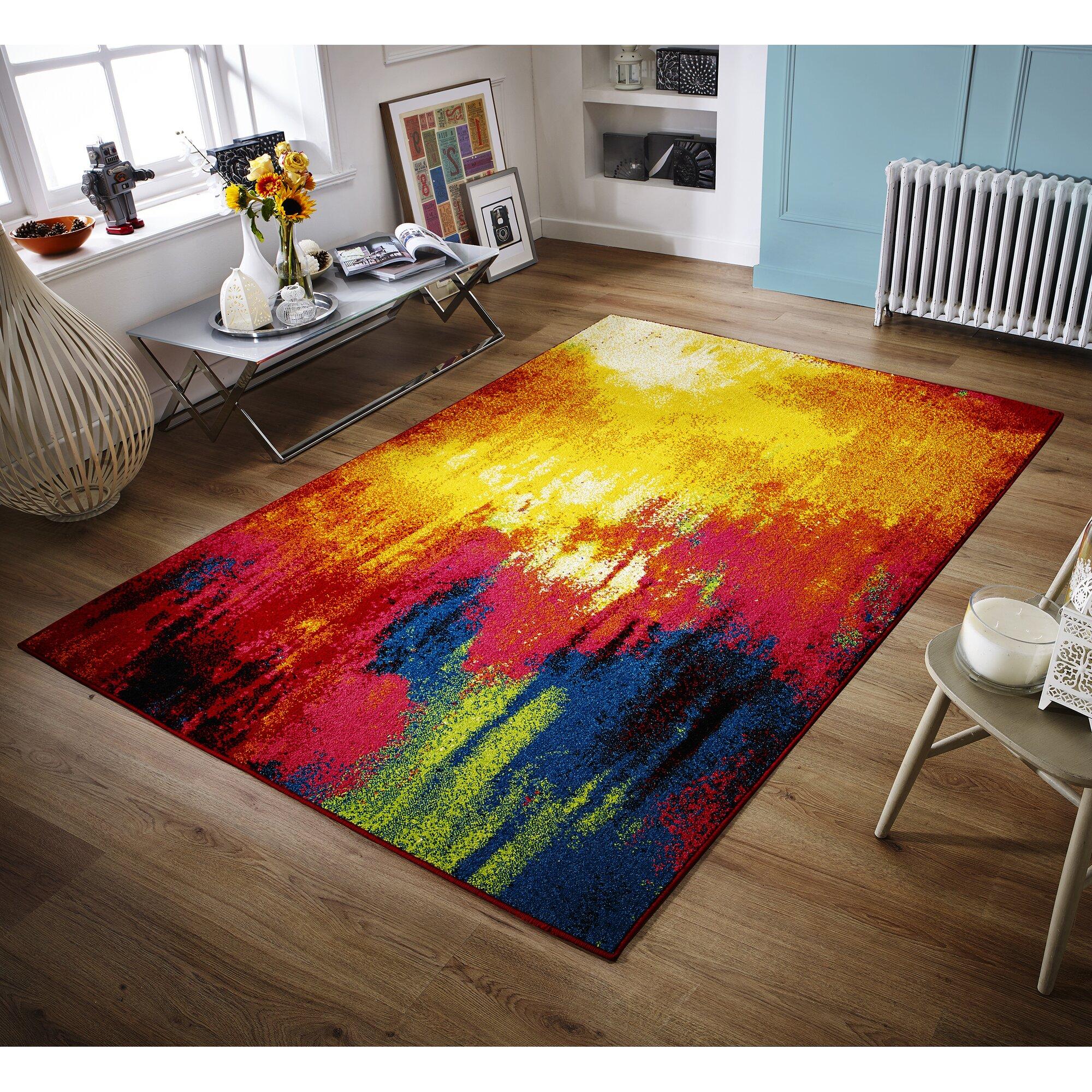caracella teppich cuba in blau rot bewertungen. Black Bedroom Furniture Sets. Home Design Ideas