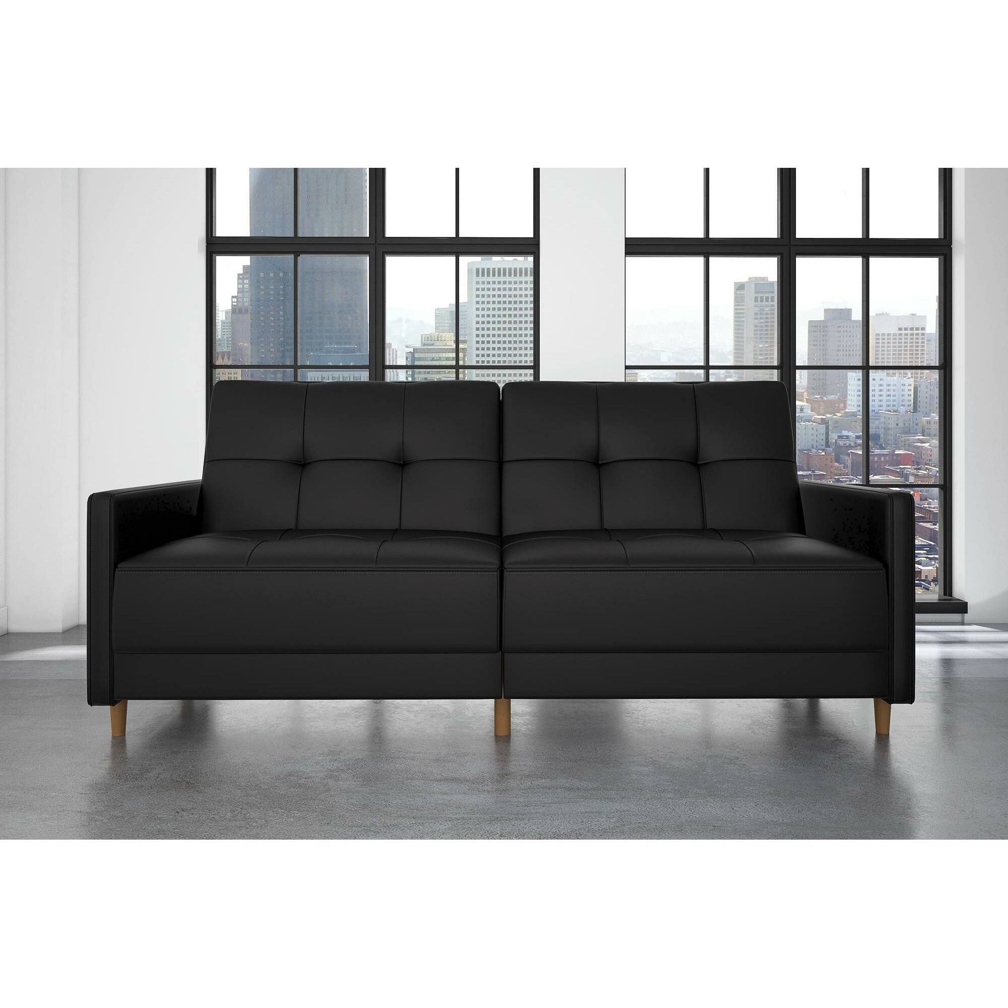 Faux Leather Sofa Reviews Living Room Alluring Livingroom