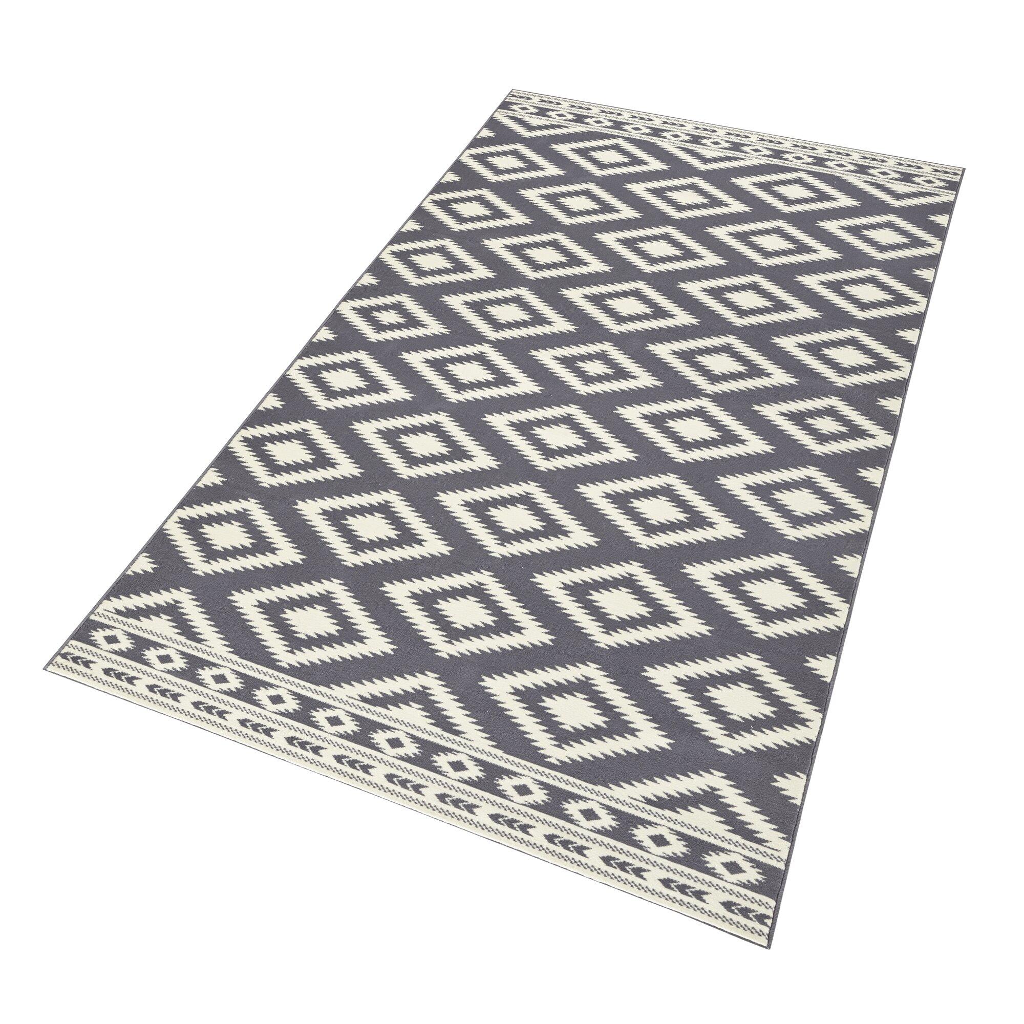 hanse home teppich ethno in grau creme bewertungen. Black Bedroom Furniture Sets. Home Design Ideas