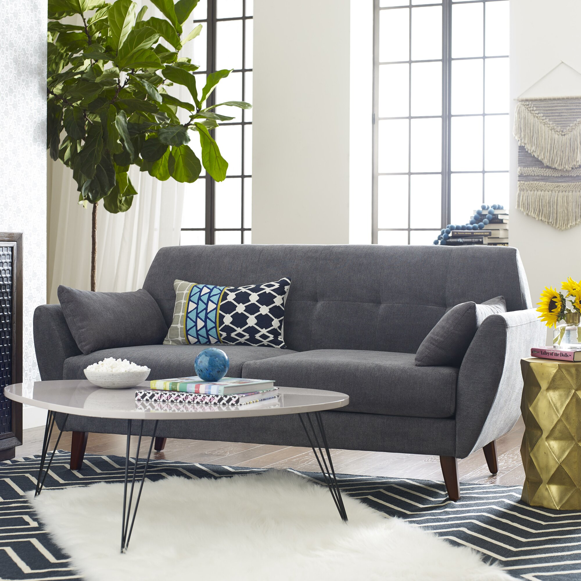 Elle Decor Amelie Mid-Century Modern Sofa & Reviews