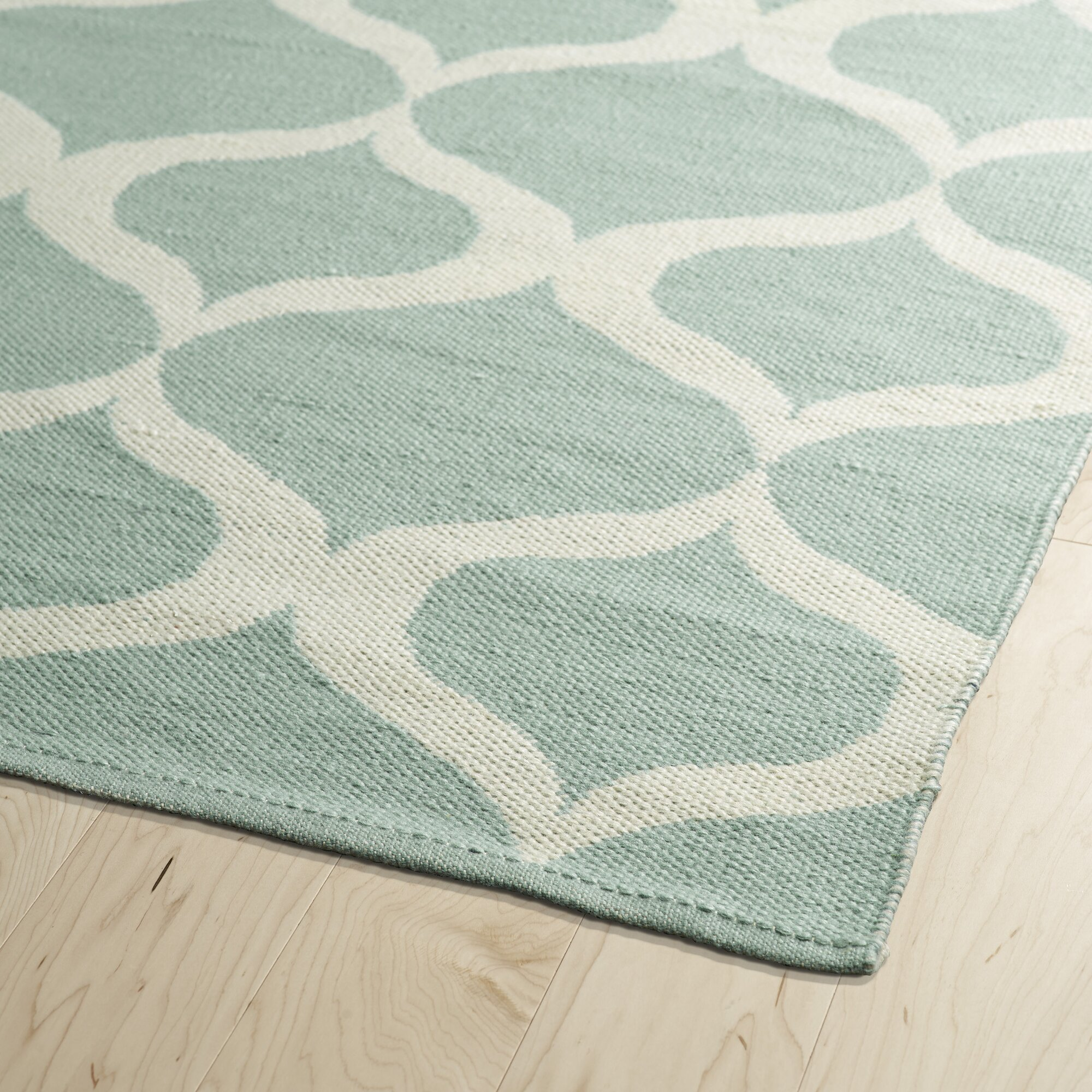 Almonte Mint/Cream Indoor/Outdoor Area Rug