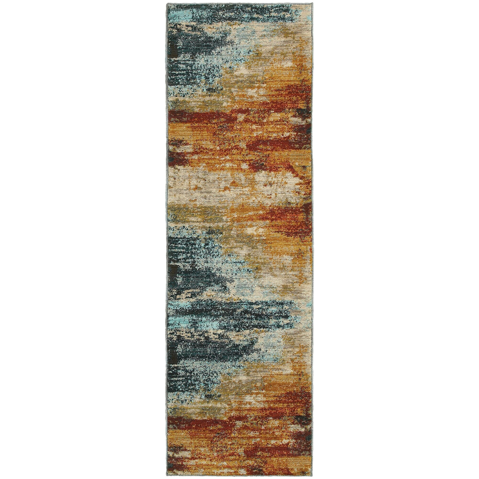 Trent Austin Design Modrest Abstract Blue/Red Area Rug u0026 Reviews : Wayfair.ca
