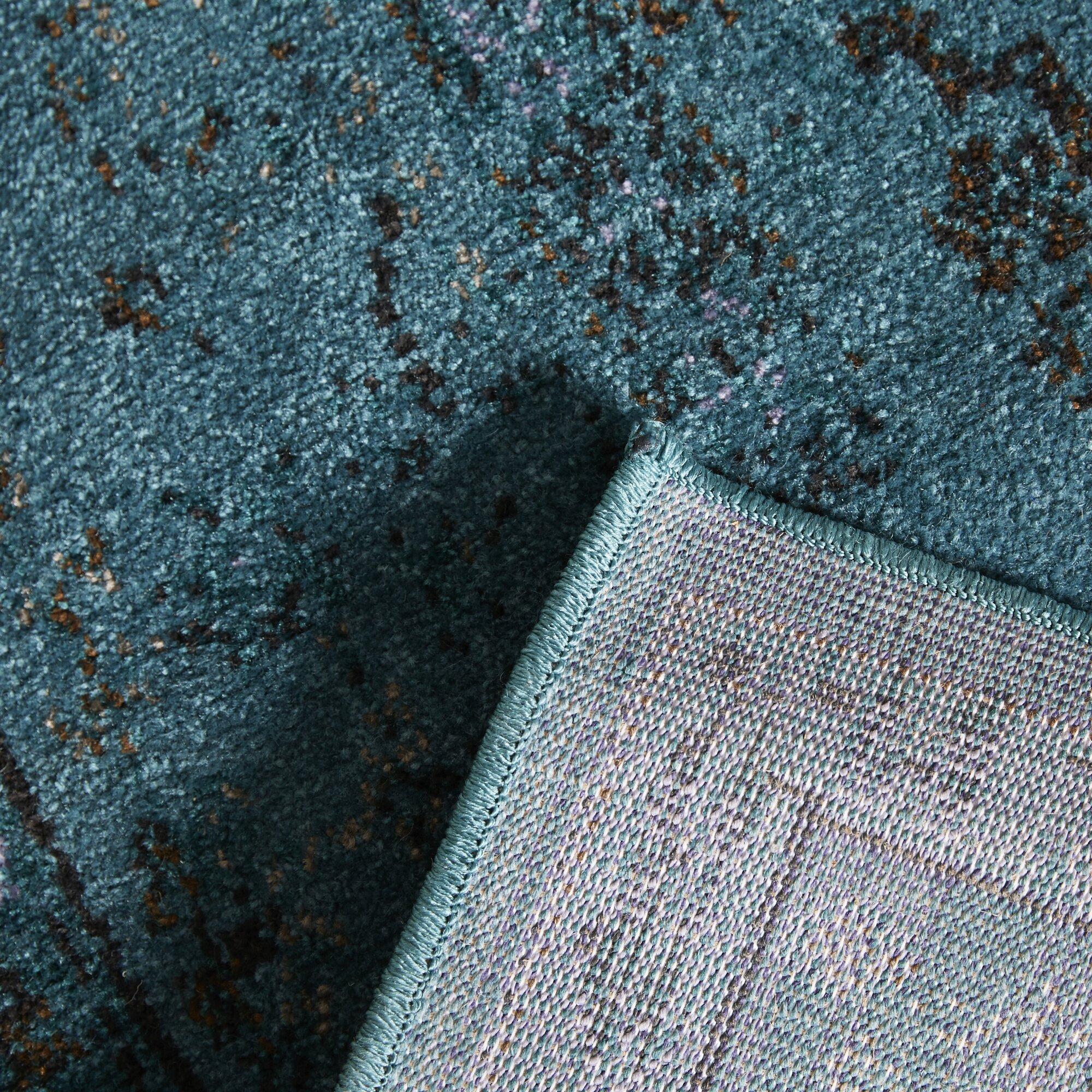Bartow Teal/Gray Area Rug & Reviews