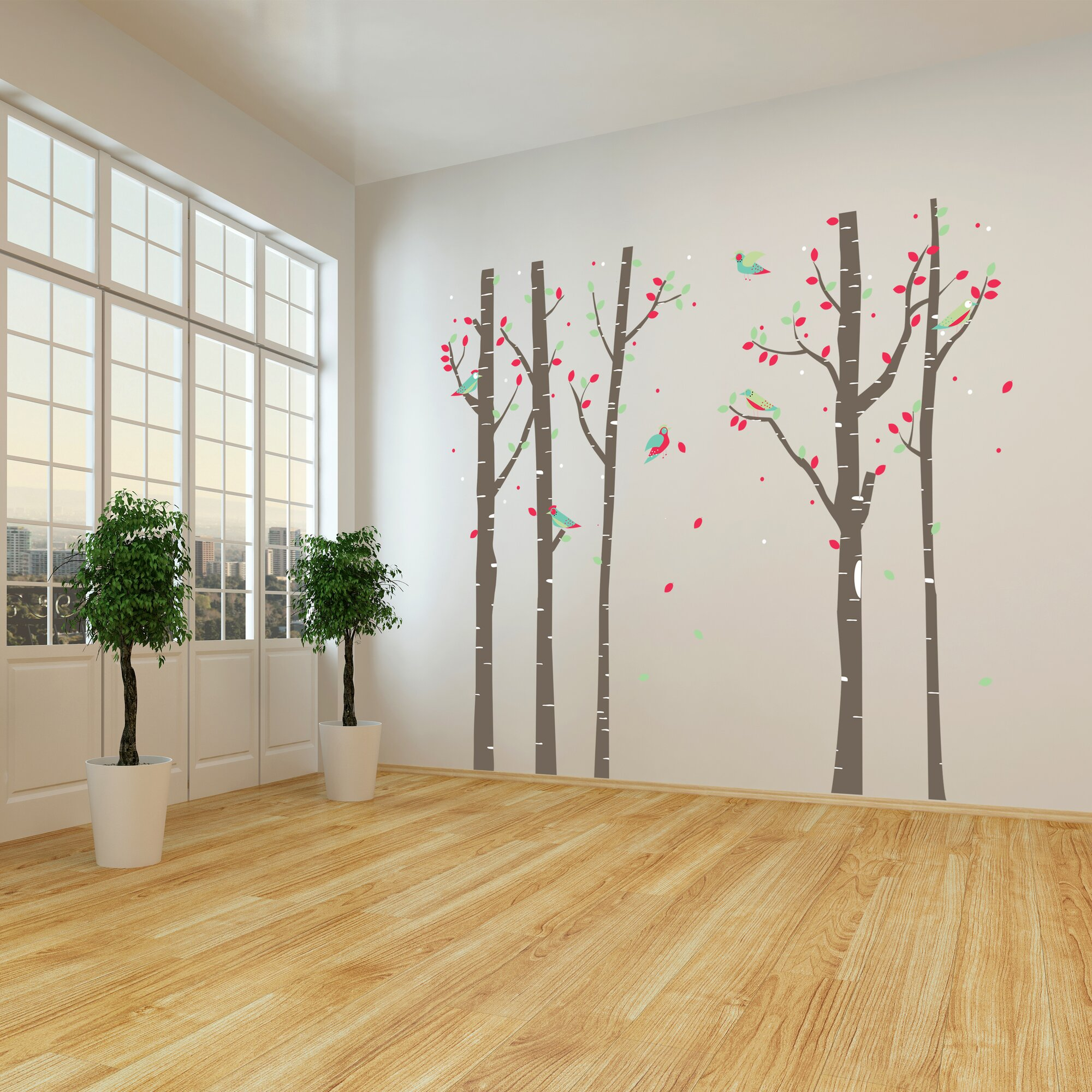 home loft concept birchtree forest wall sticker wayfair co uk birchtree forest wall sticker