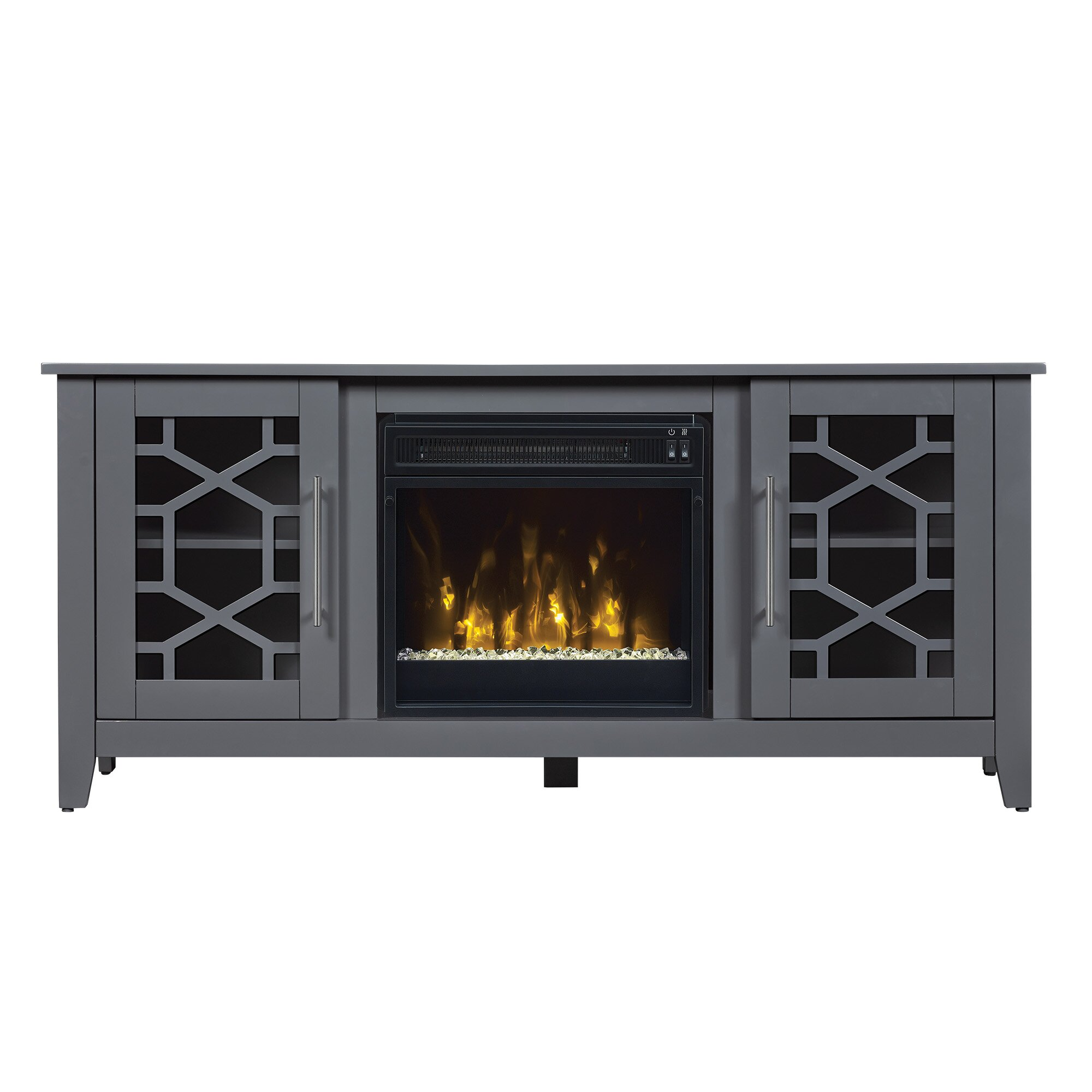 Latitude Run Colton Tv Stand With Electric Fireplace
