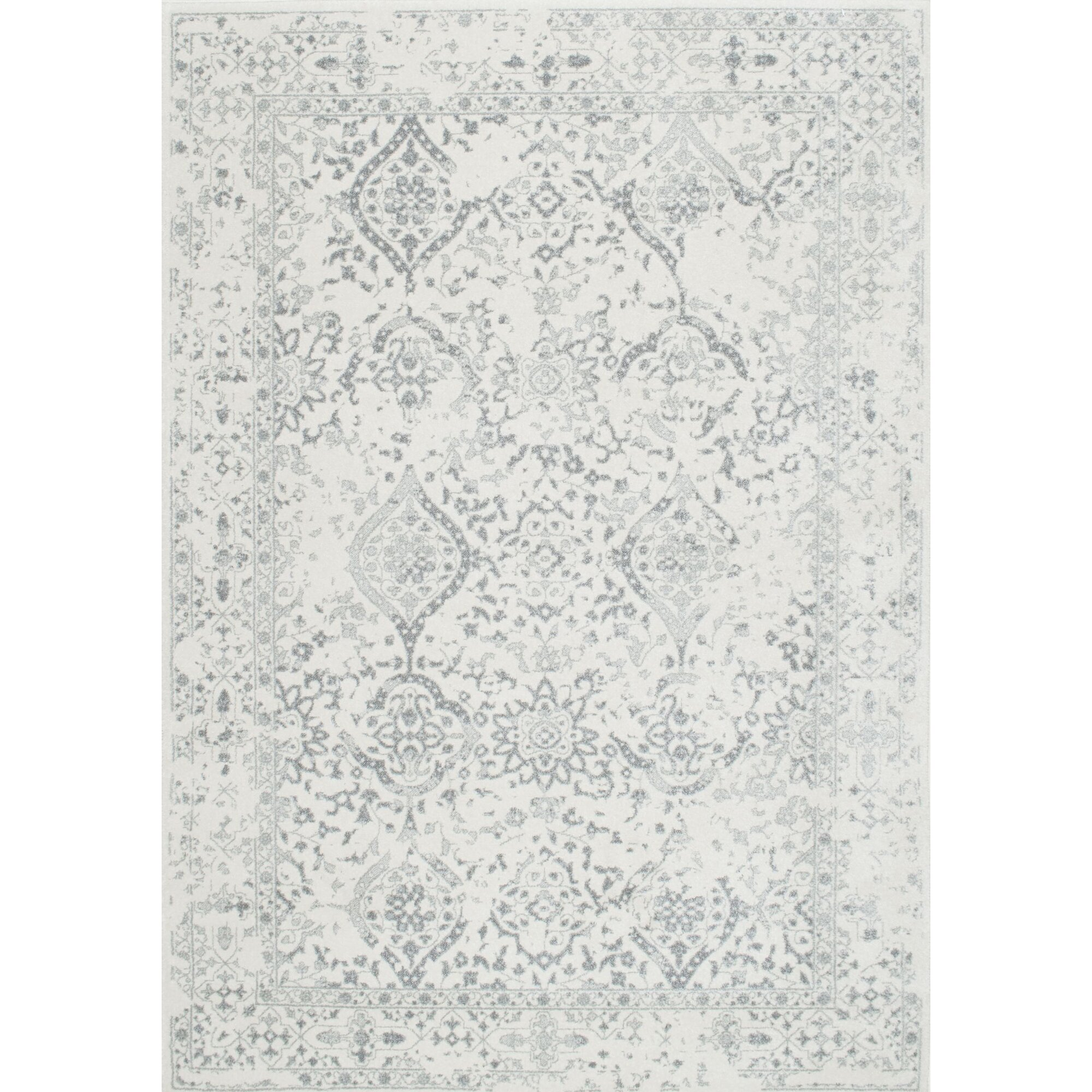 Dorothea Ivory Gray Area Rug Amp Reviews Birch Lane