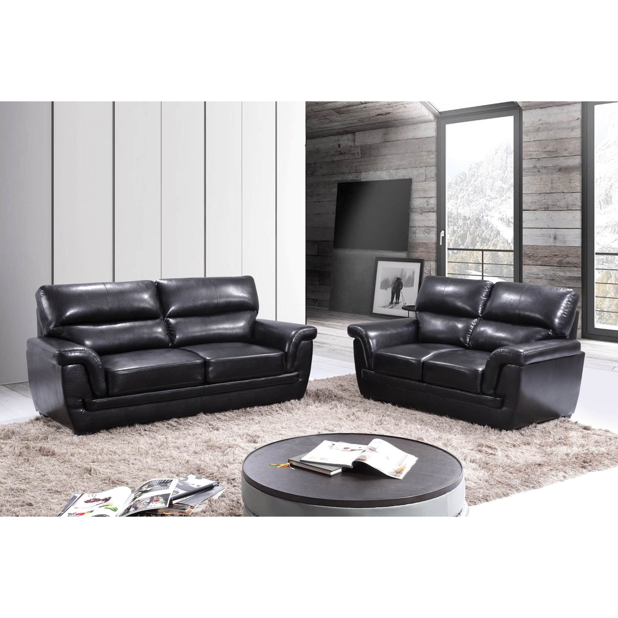 Andover mills annawan 2 piece leather living room set 2 piece leather living room set