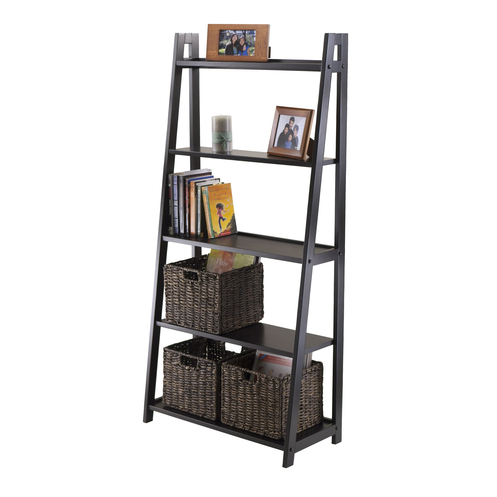 media wood garden espresso today free cube grain tower finish rotating bookcase home product shipping overstock