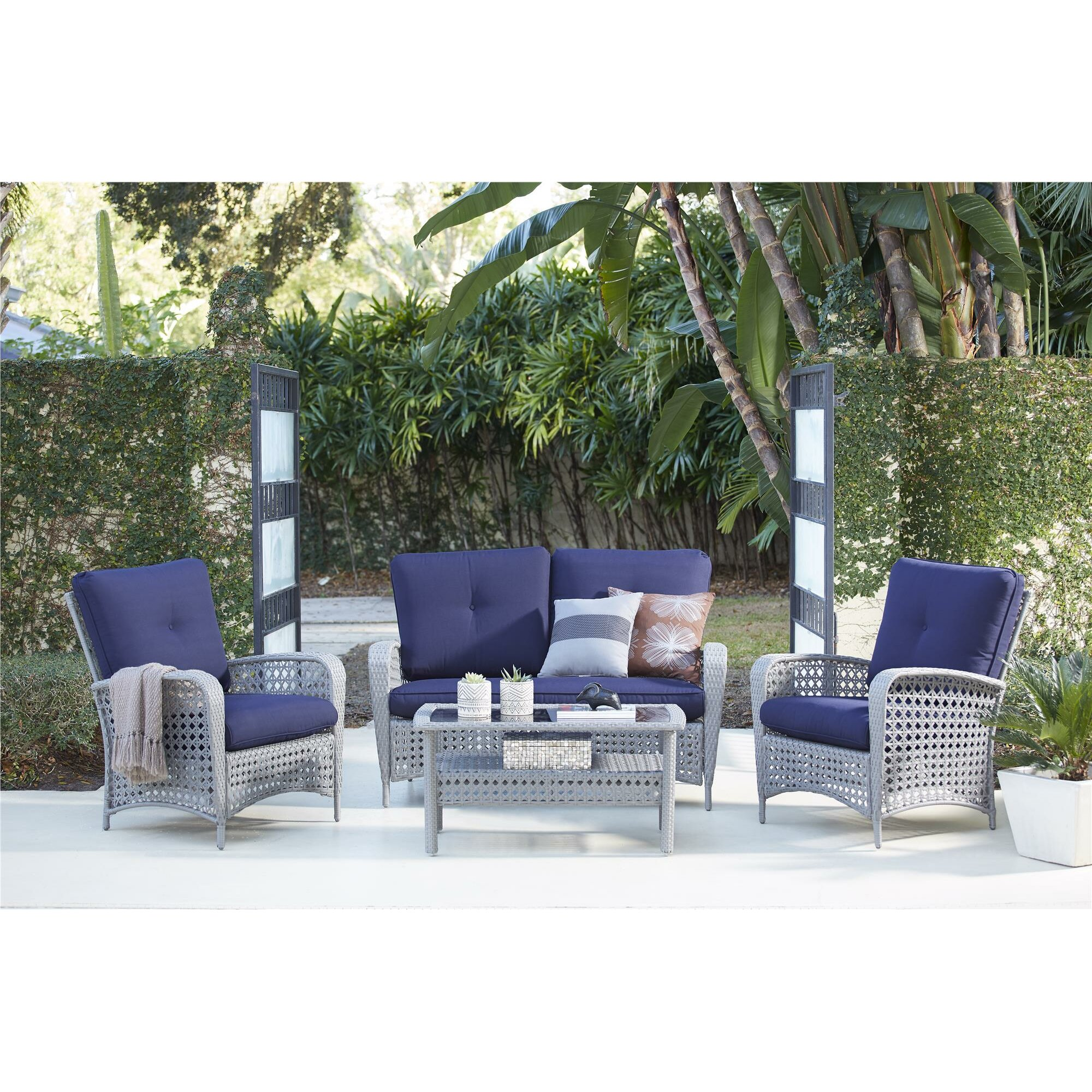 Cosco Home And Office Lakewood Ranch 4 Piece Sofa Seating