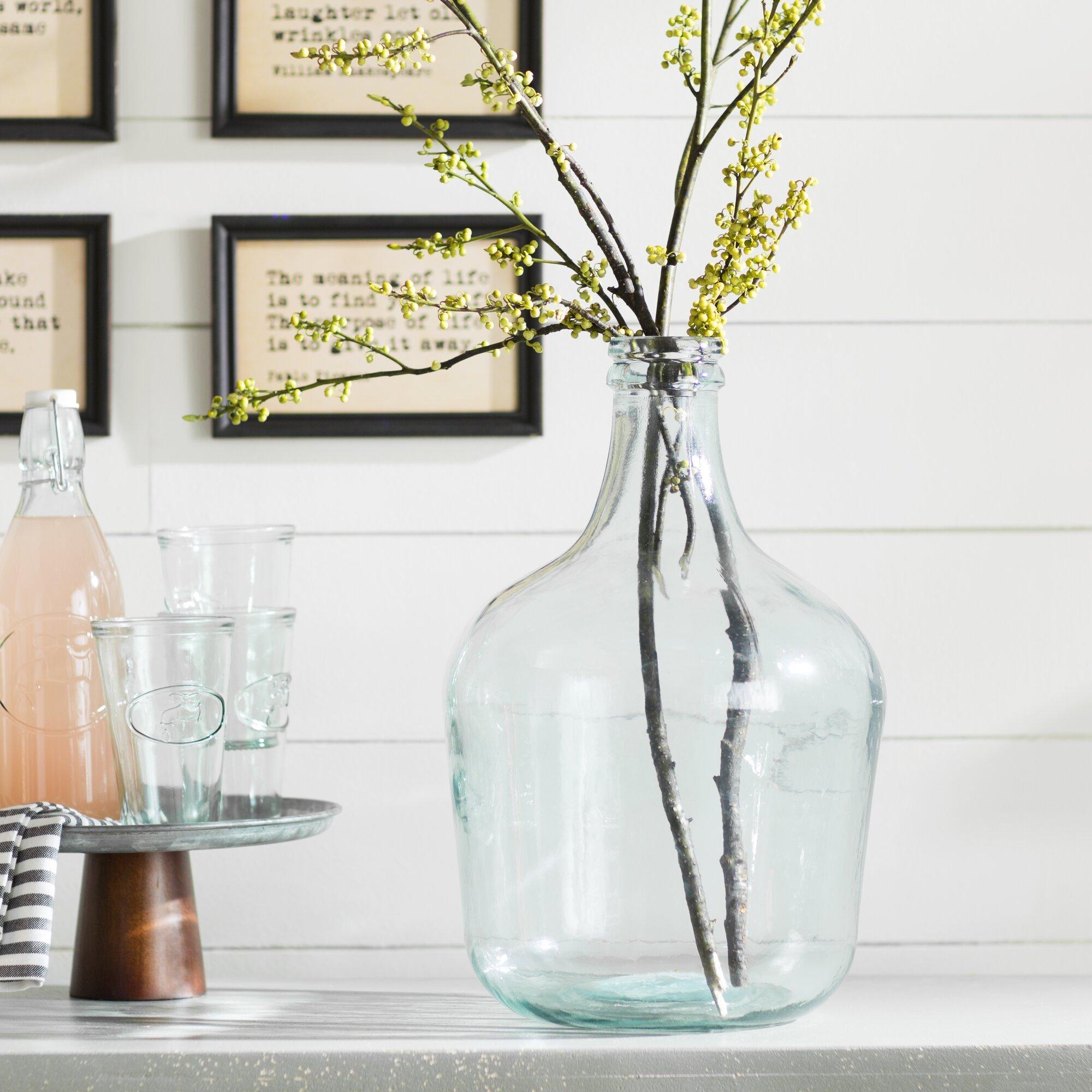 Kitchen Table Vases: Laurel Foundry Modern Farmhouse Parisian Bottle Glass