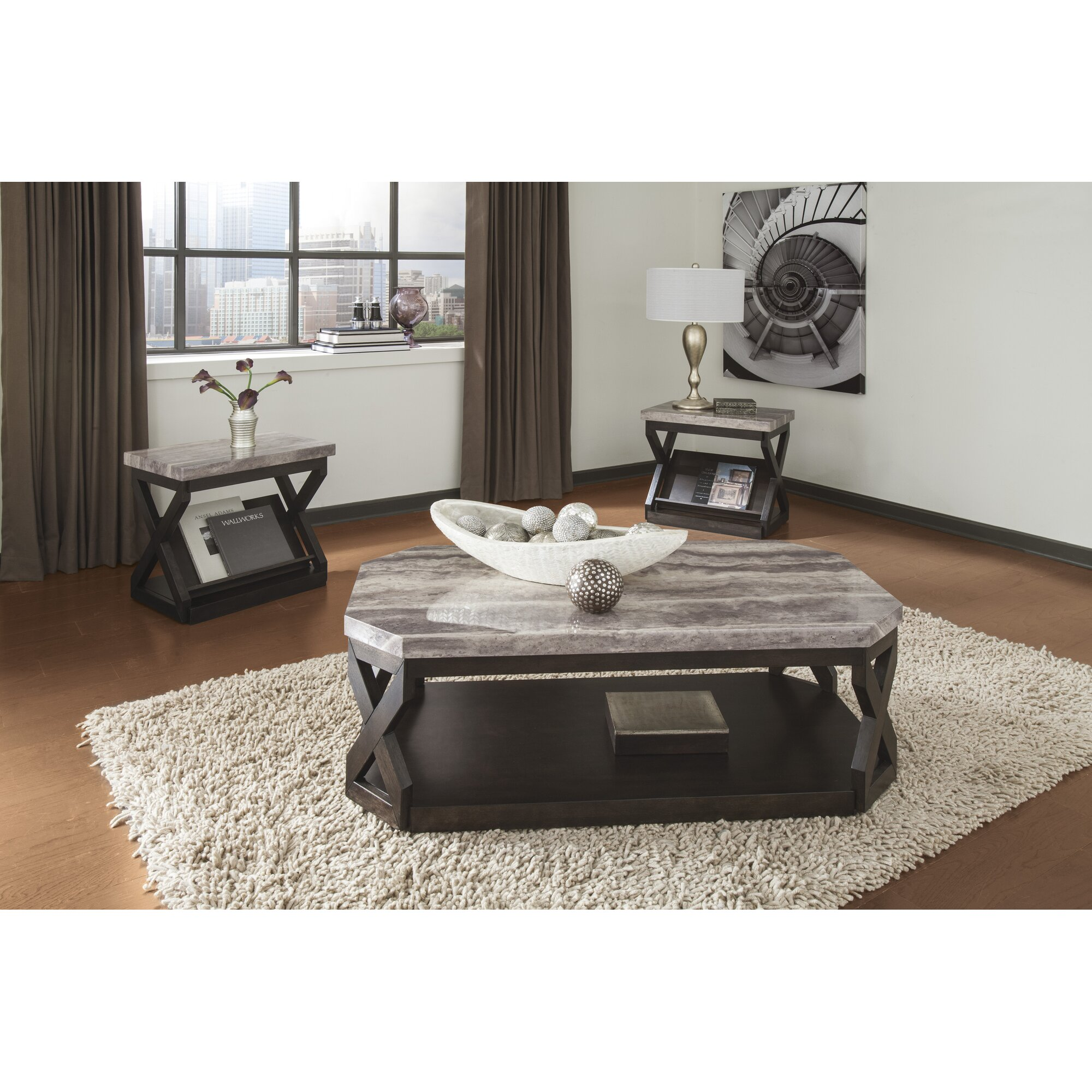 Latitude Run Kelton 3 Piece Coffee Table Set & Reviews