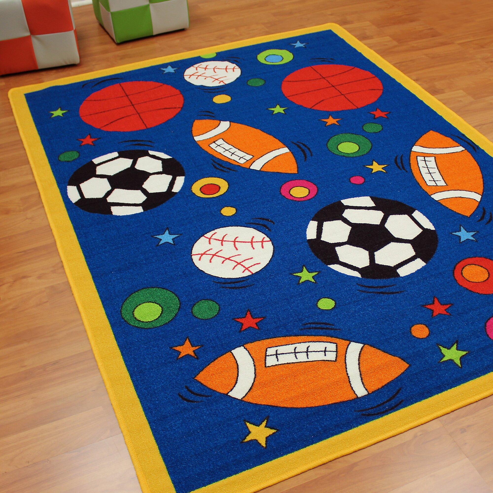 DonnieAnn Company Paradise Design Sports Balls Blue Kids
