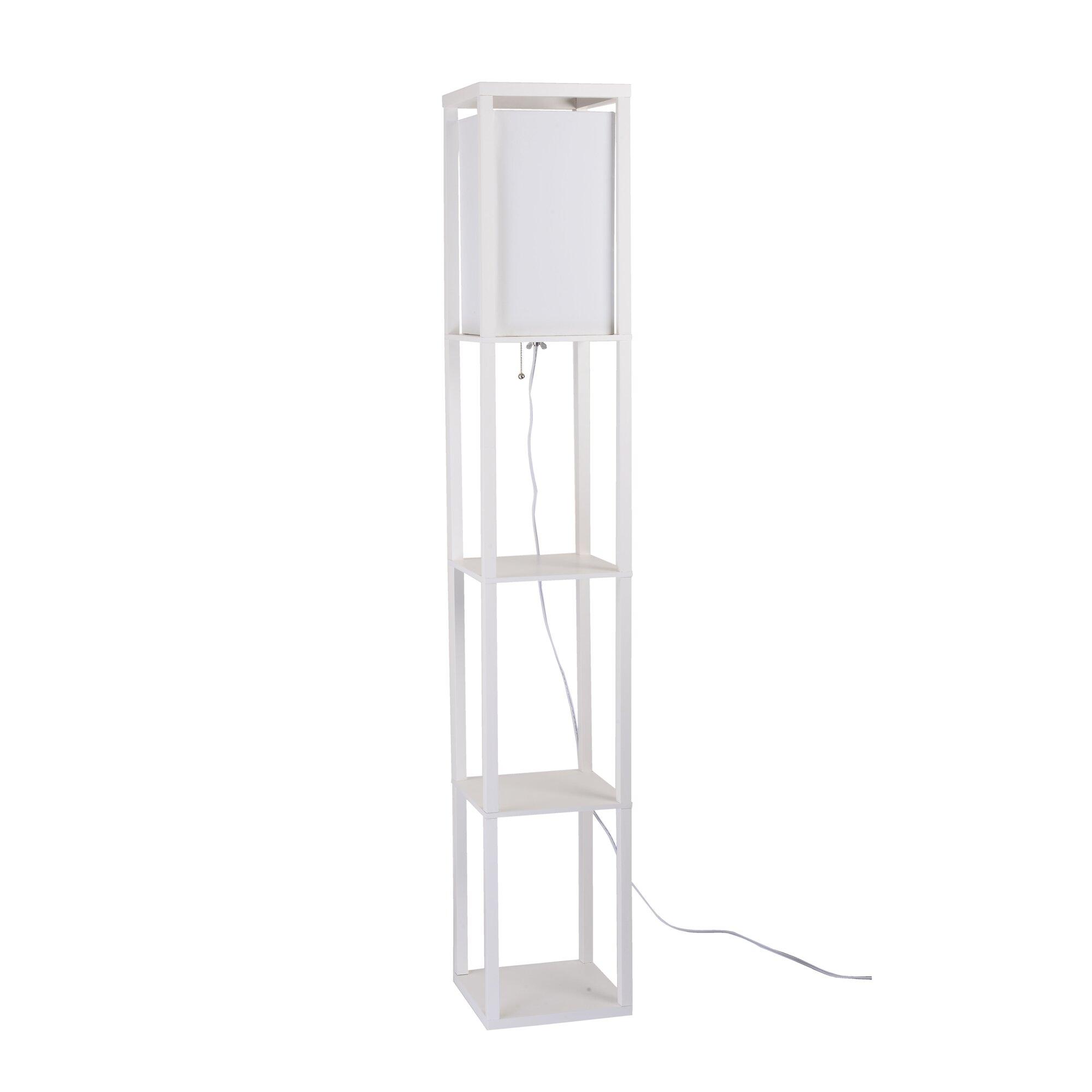 catalina lighting square 62 8 led etagere floor lamp. Black Bedroom Furniture Sets. Home Design Ideas