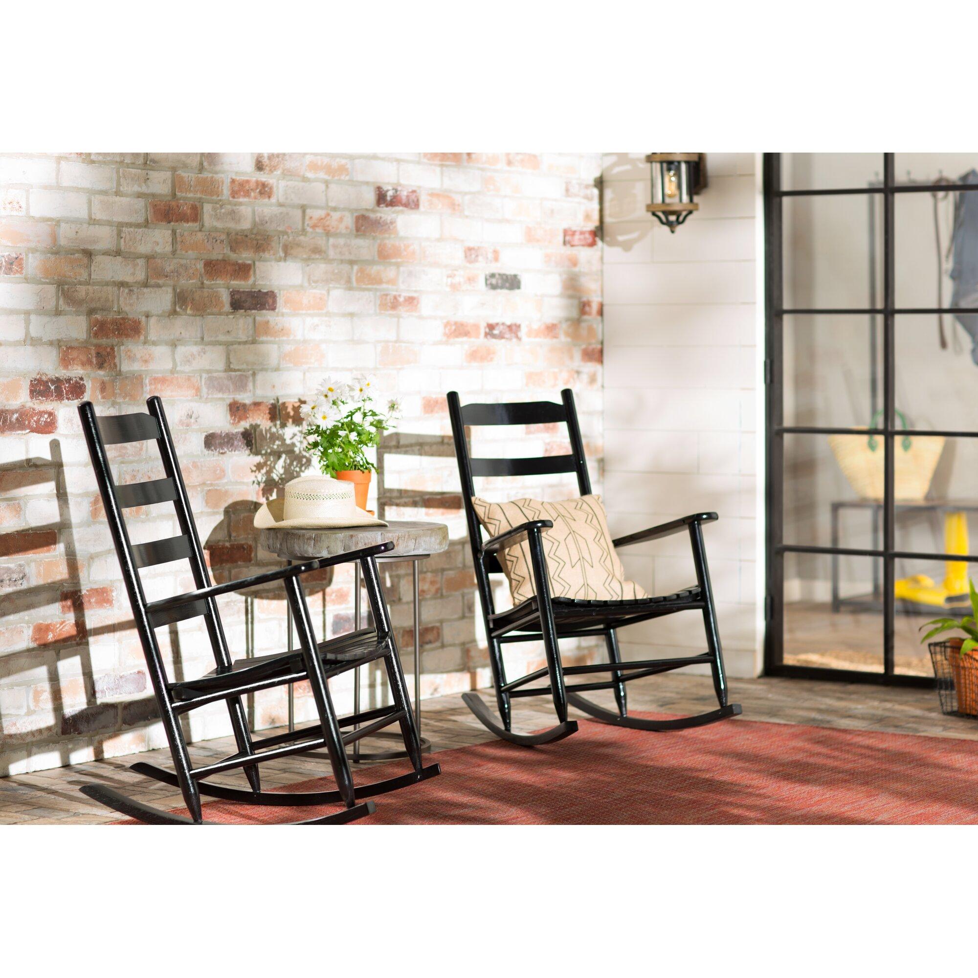 ... Modern Farmhouse Ona Ladder Back Rocking Chair & Reviews  Wayfair