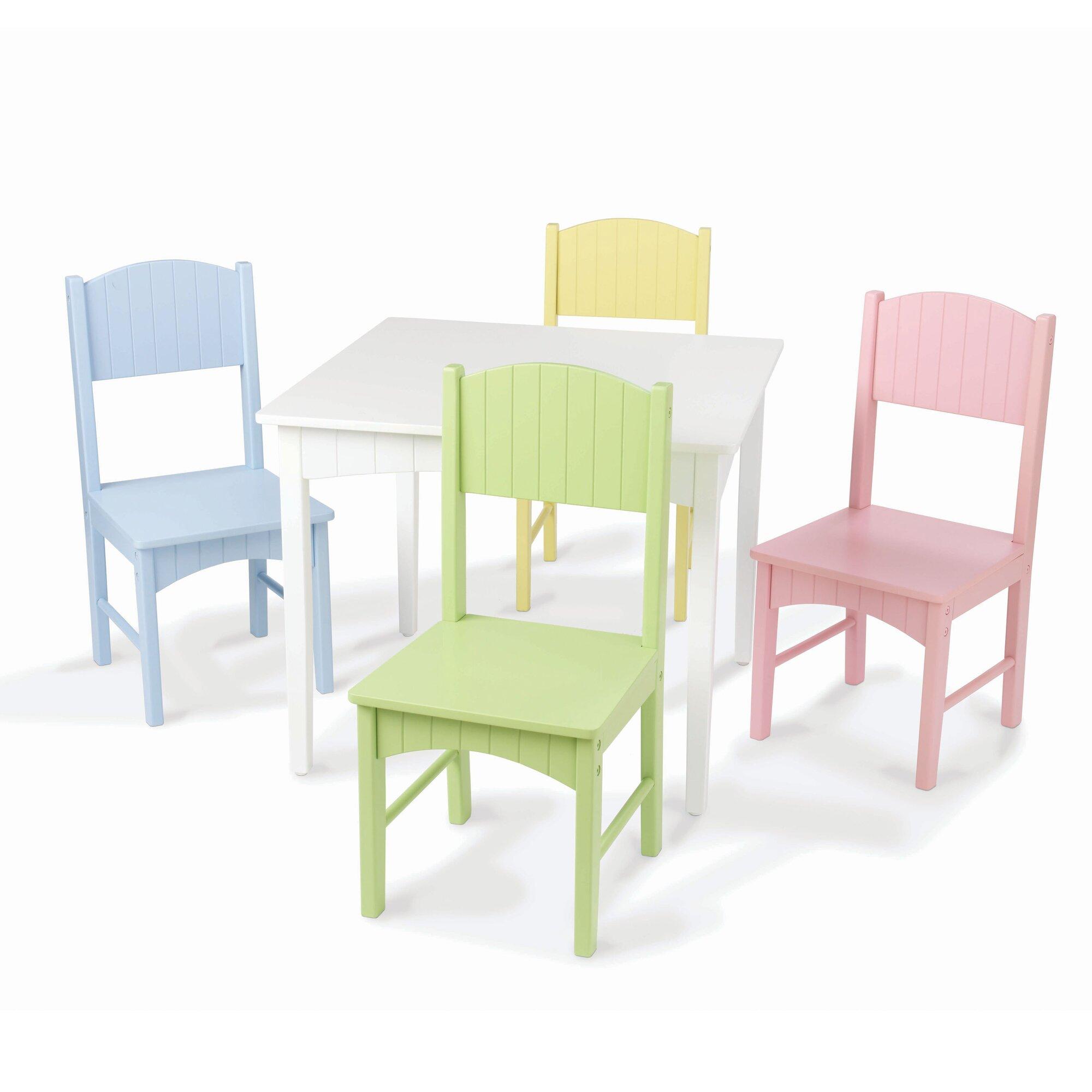 Kidkraft Nantucket Kids 5 Piece Table Amp Chair Set