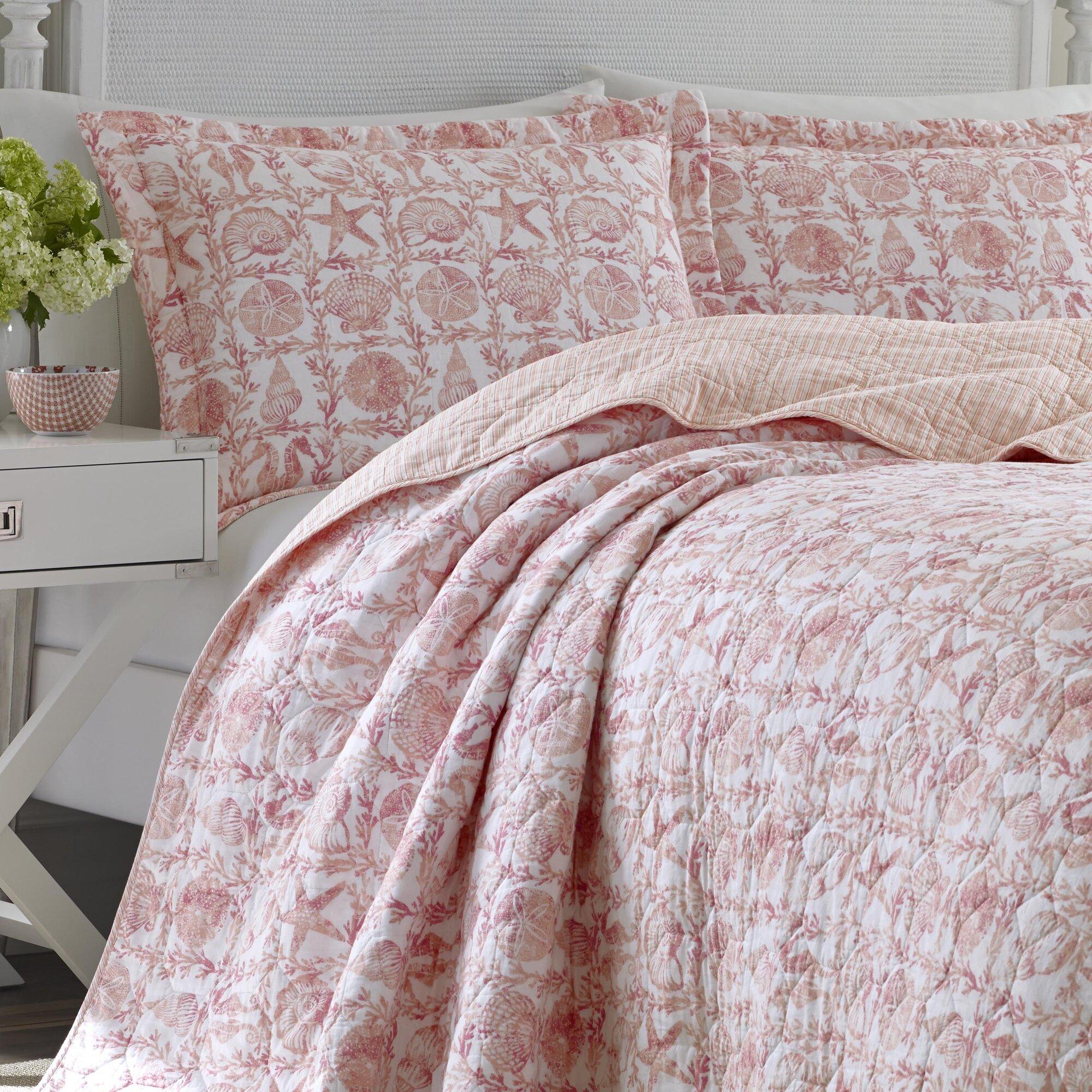 Laura Ashley Home Bettina Beach Rose Cotton Reversible ...
