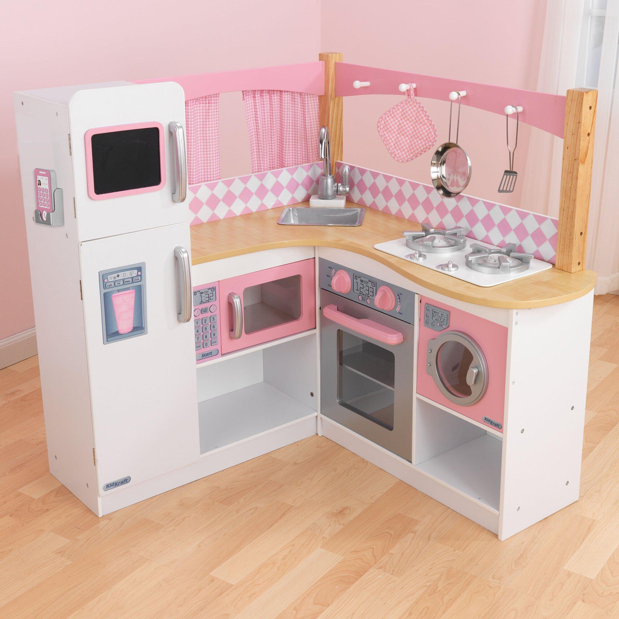 Uncategorized Kids Kitchen Appliances play kitchen sets accessories wayfair grand gourmet corner kitchen