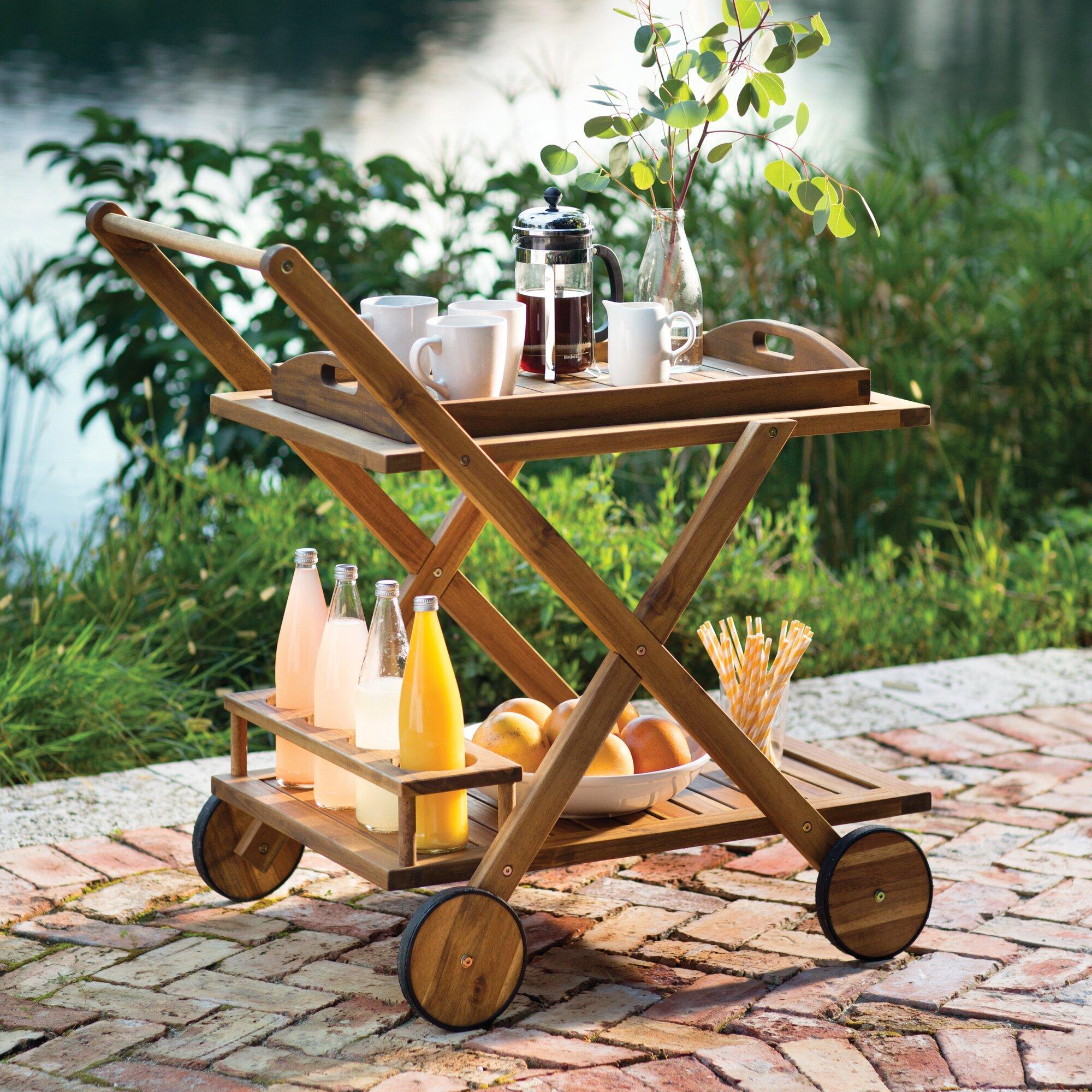 Beachcrest Home Pinecrest Bar Serving Cart & Reviews
