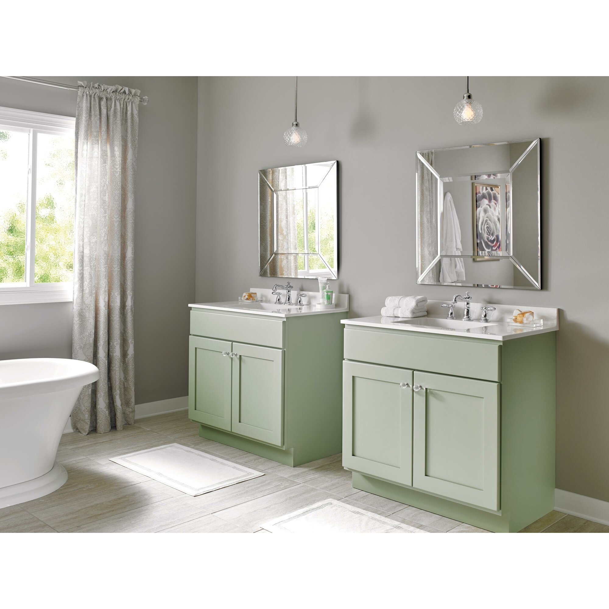 Model Home  Bathroom  Victorian Widespread Bathroom Faucet  Porcelain