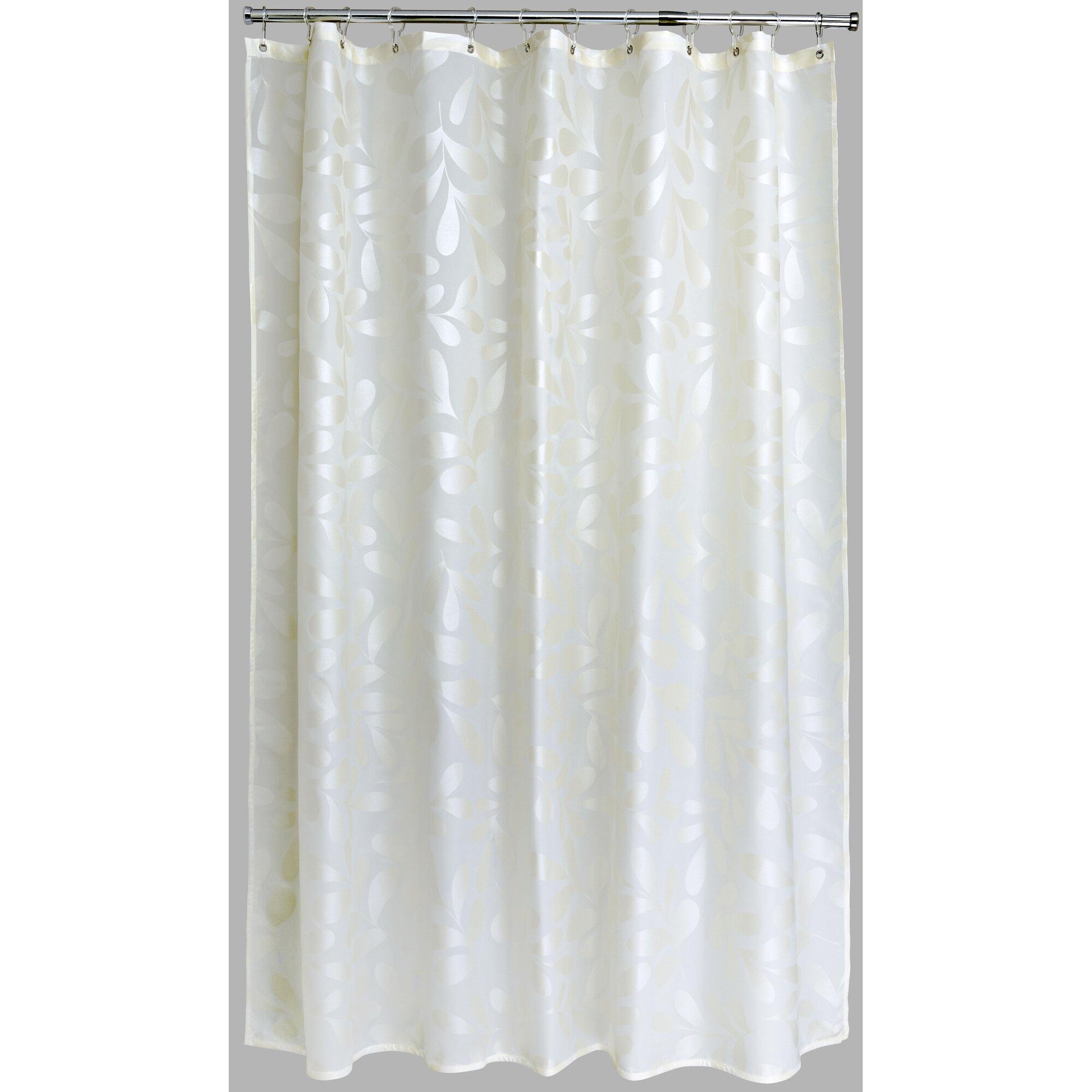 home etc duschvorhang silk leaf aus polyester. Black Bedroom Furniture Sets. Home Design Ideas