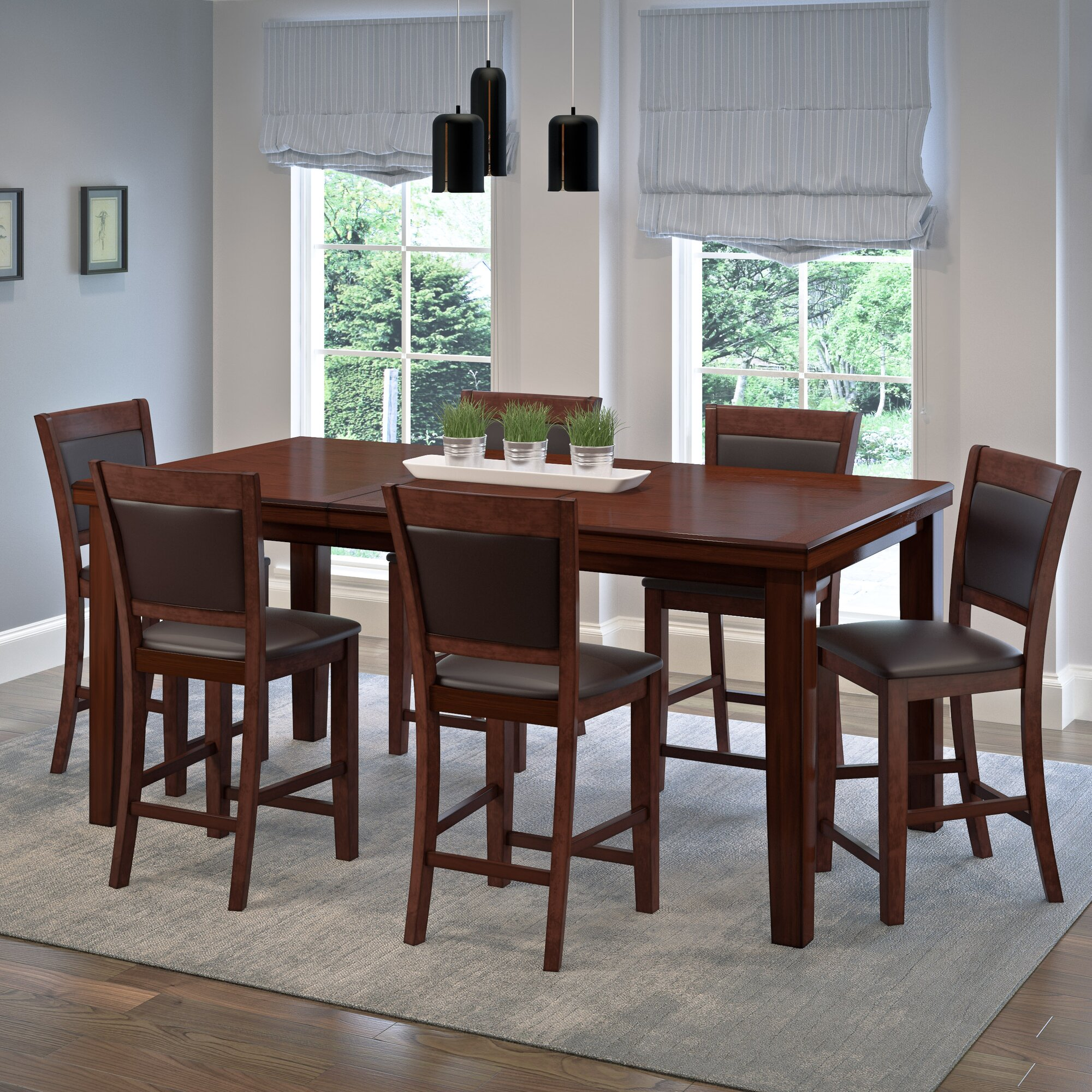 latitude run tegan 7 piece counter height dining set