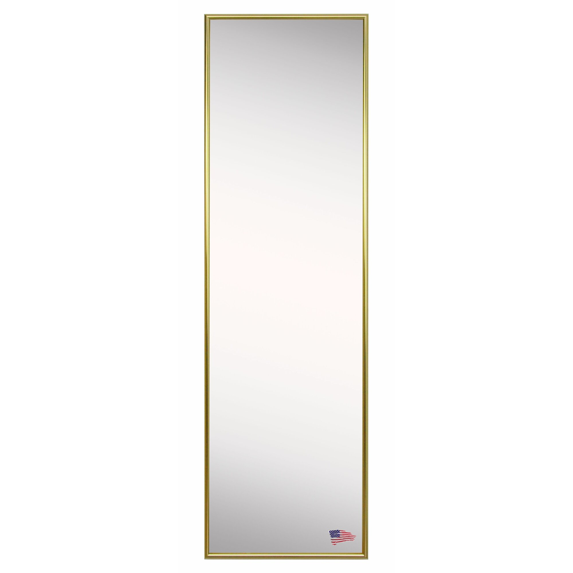 Darby home co rectangle gold floor mirror for Gold standing mirror