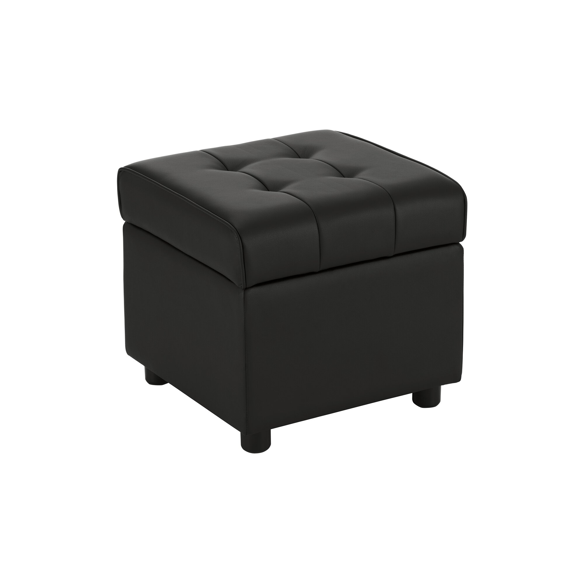 Wade Logan Littrell Square Storage Ottoman Amp Reviews