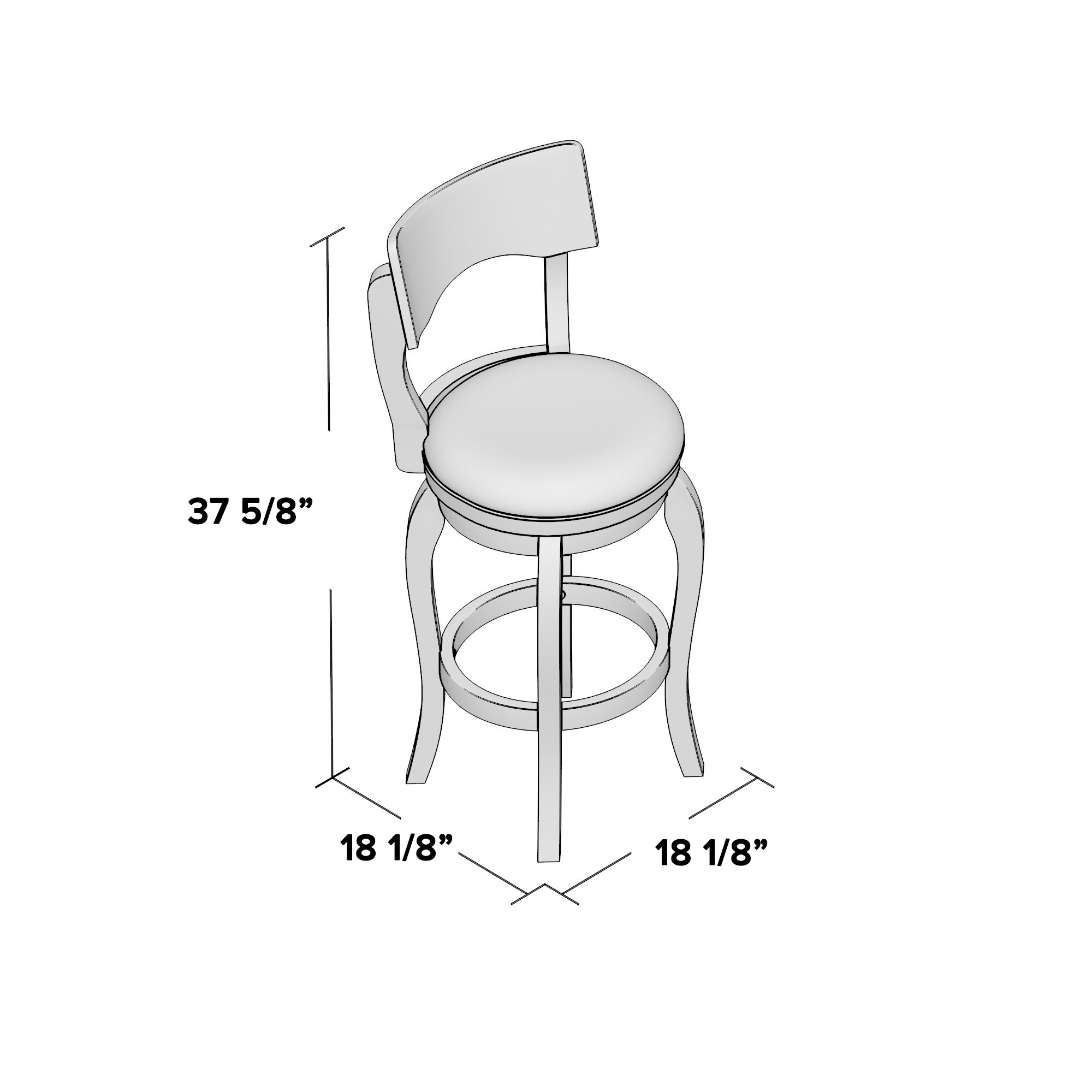 Three Posts Wescott 29 Quot Swivel Bar Stool With Cushion