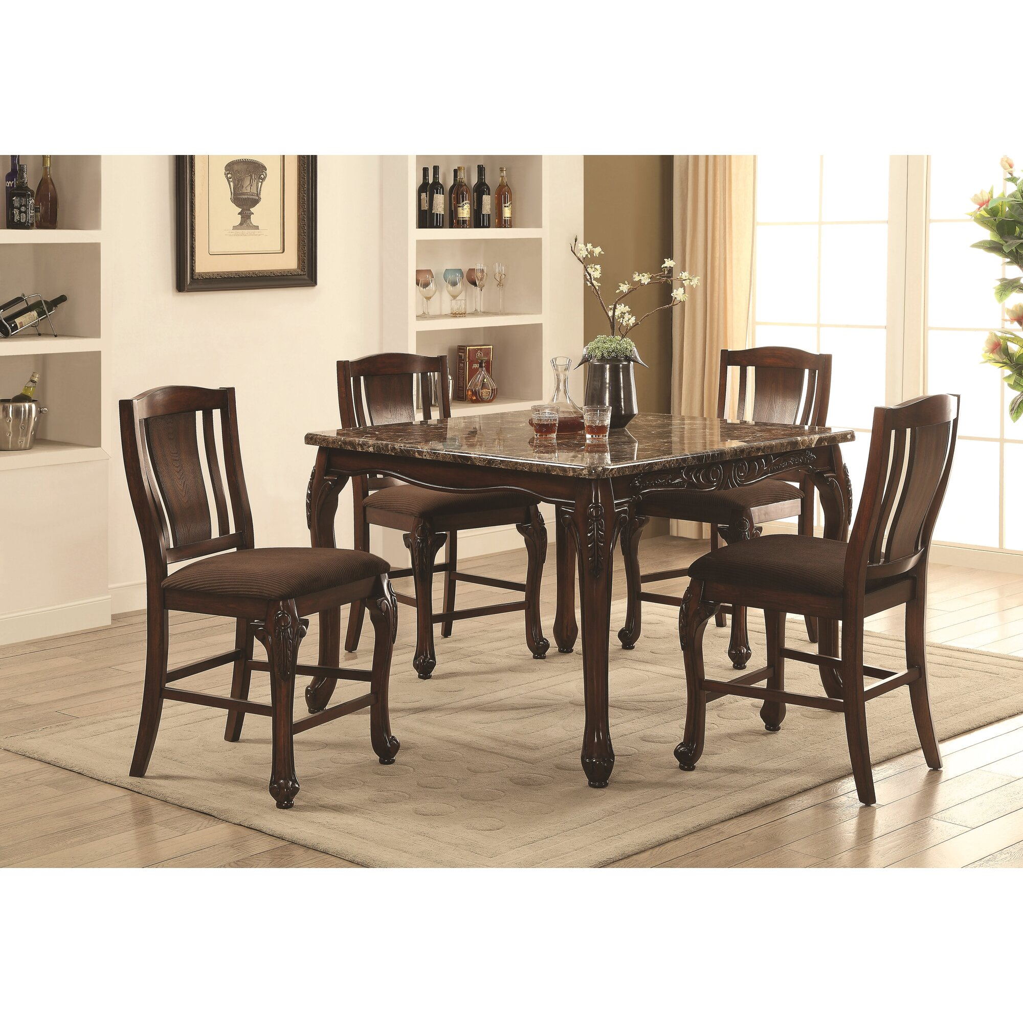 astoria grand dominey 5 piece counter height dining set