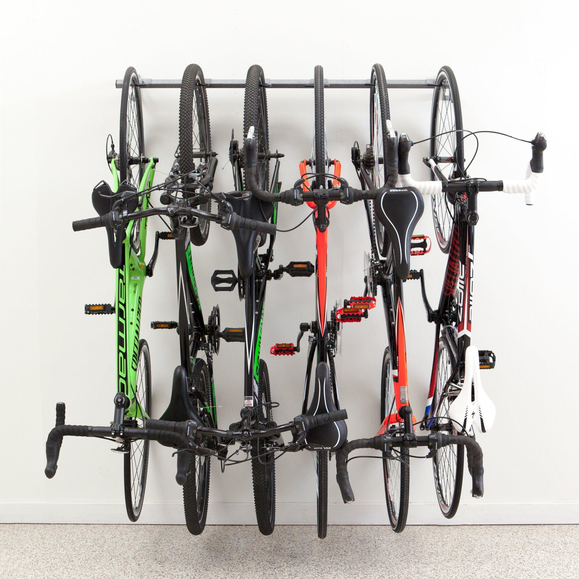 Monkey Bar 6 Bike Storage Wall Mounted Bike Rack Amp Reviews