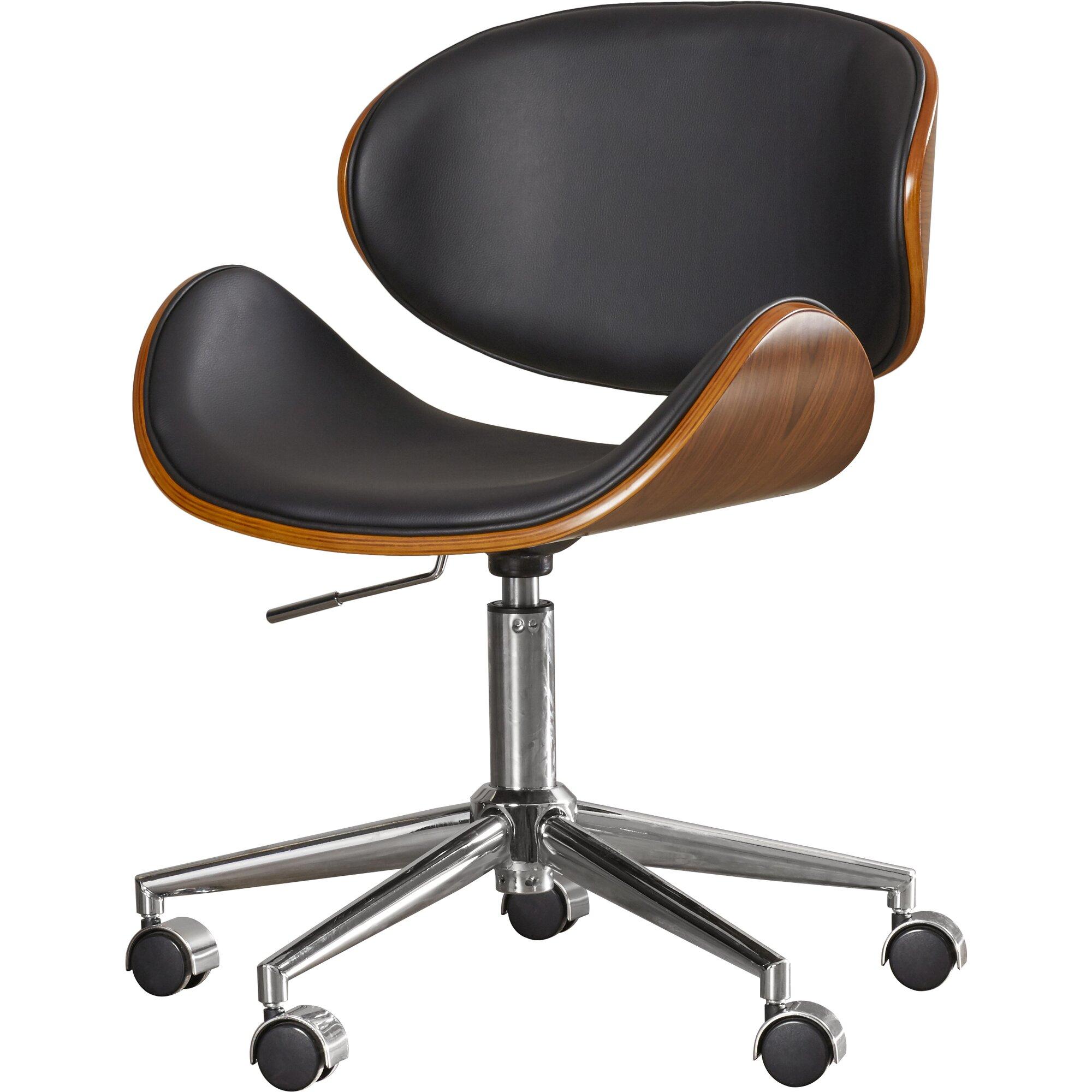 Modern leather office chair - Urban Unity Quinn Mid Back Leather Office Chair