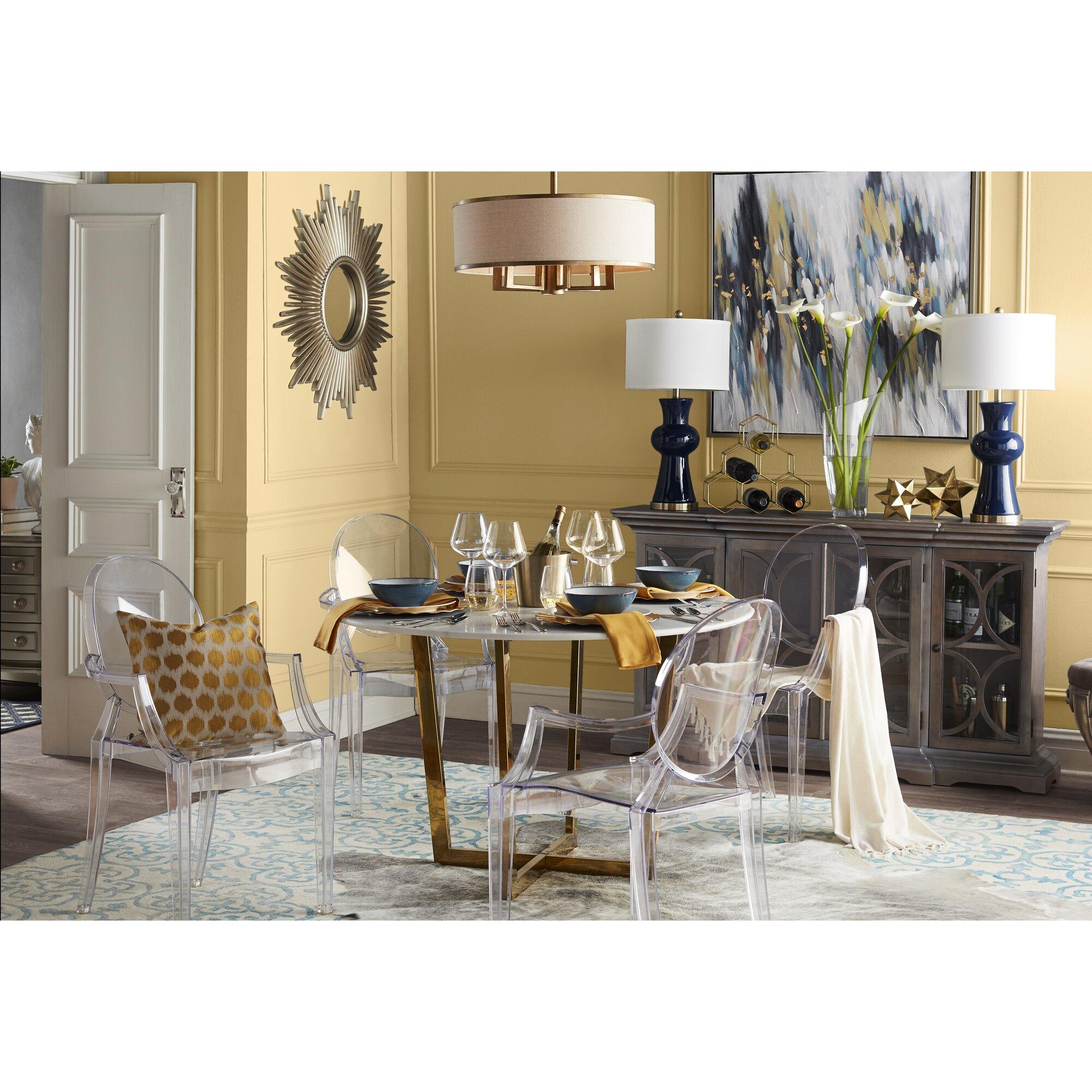 kartell louis ghost arm chair reviews wayfair. Black Bedroom Furniture Sets. Home Design Ideas