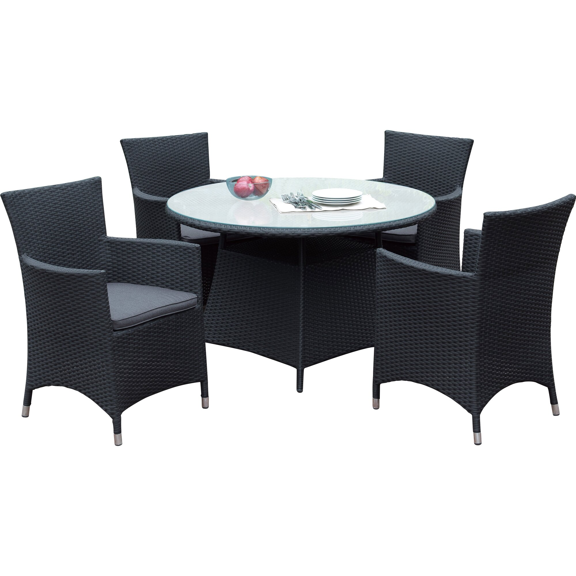 A Amp J Homes Studio Joey 5 Piece Dining Set With Cushions