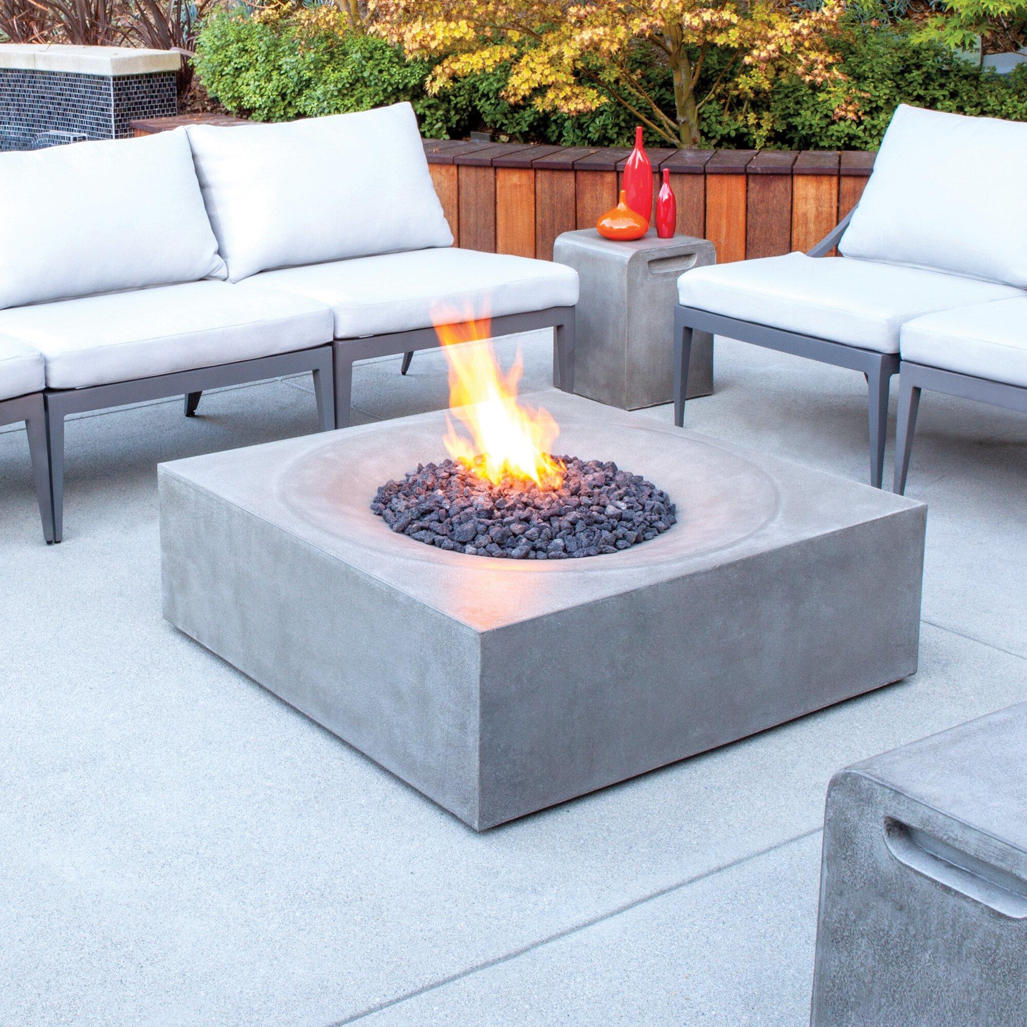 bjfs solstice concrete natural gas propane fire pit table reviews. Black Bedroom Furniture Sets. Home Design Ideas