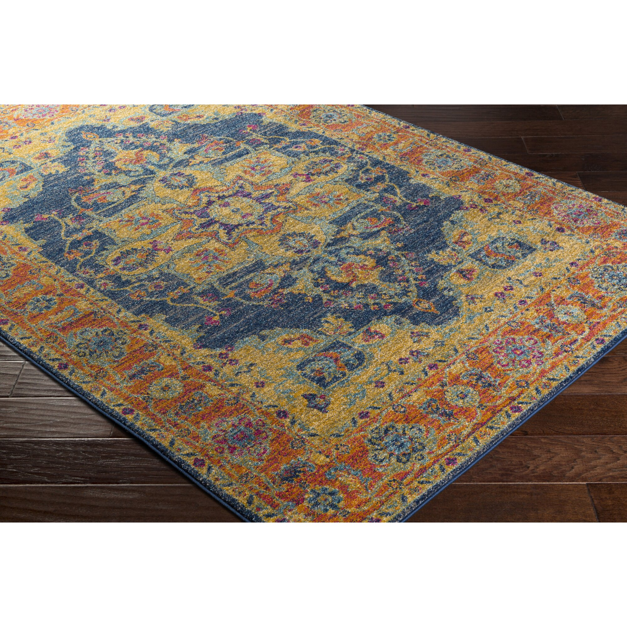 Bungalow Rose Andover Blue Orange Area Rug Amp Reviews Wayfair