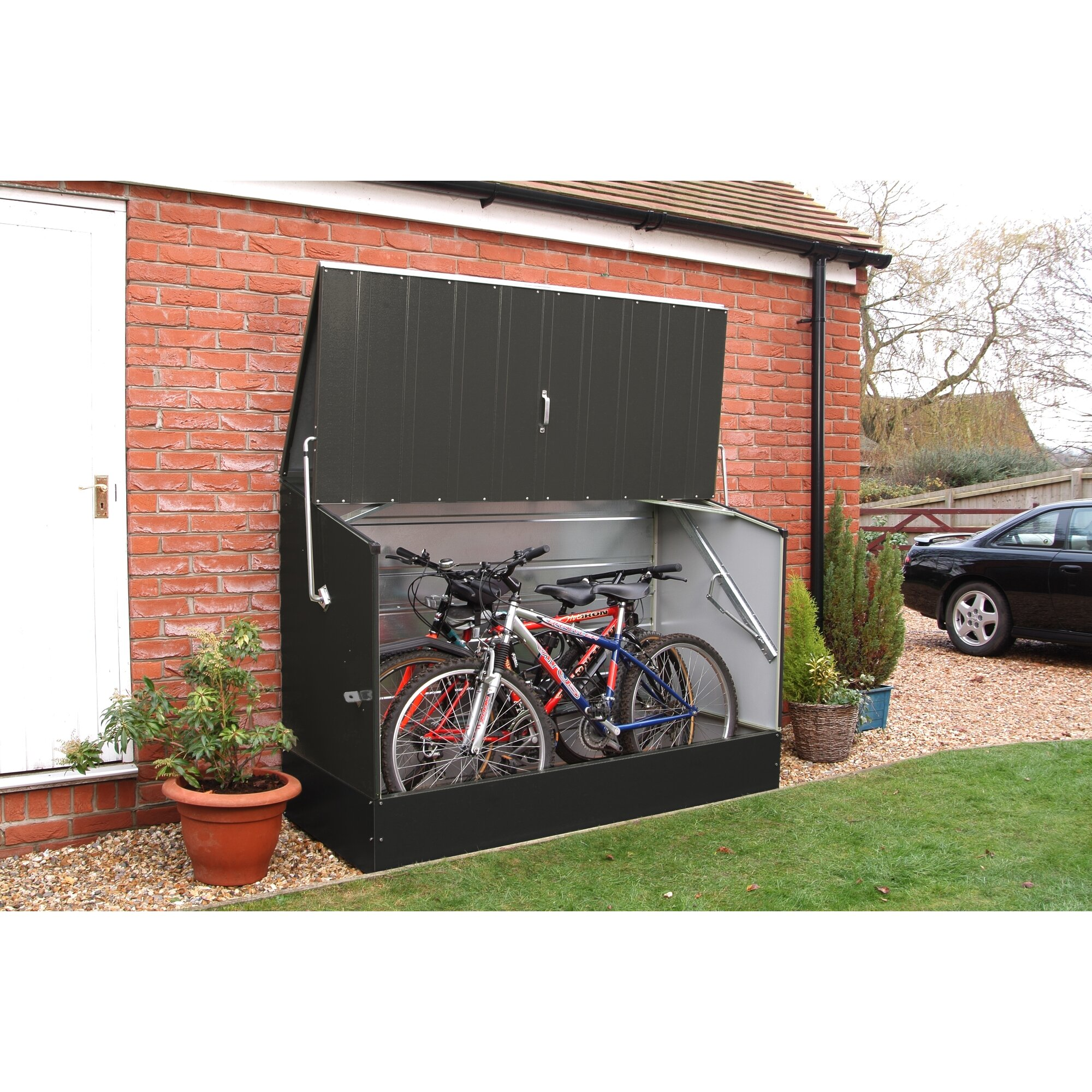 rowlinson ft w x ft d metal horizontal bike. Black Bedroom Furniture Sets. Home Design Ideas