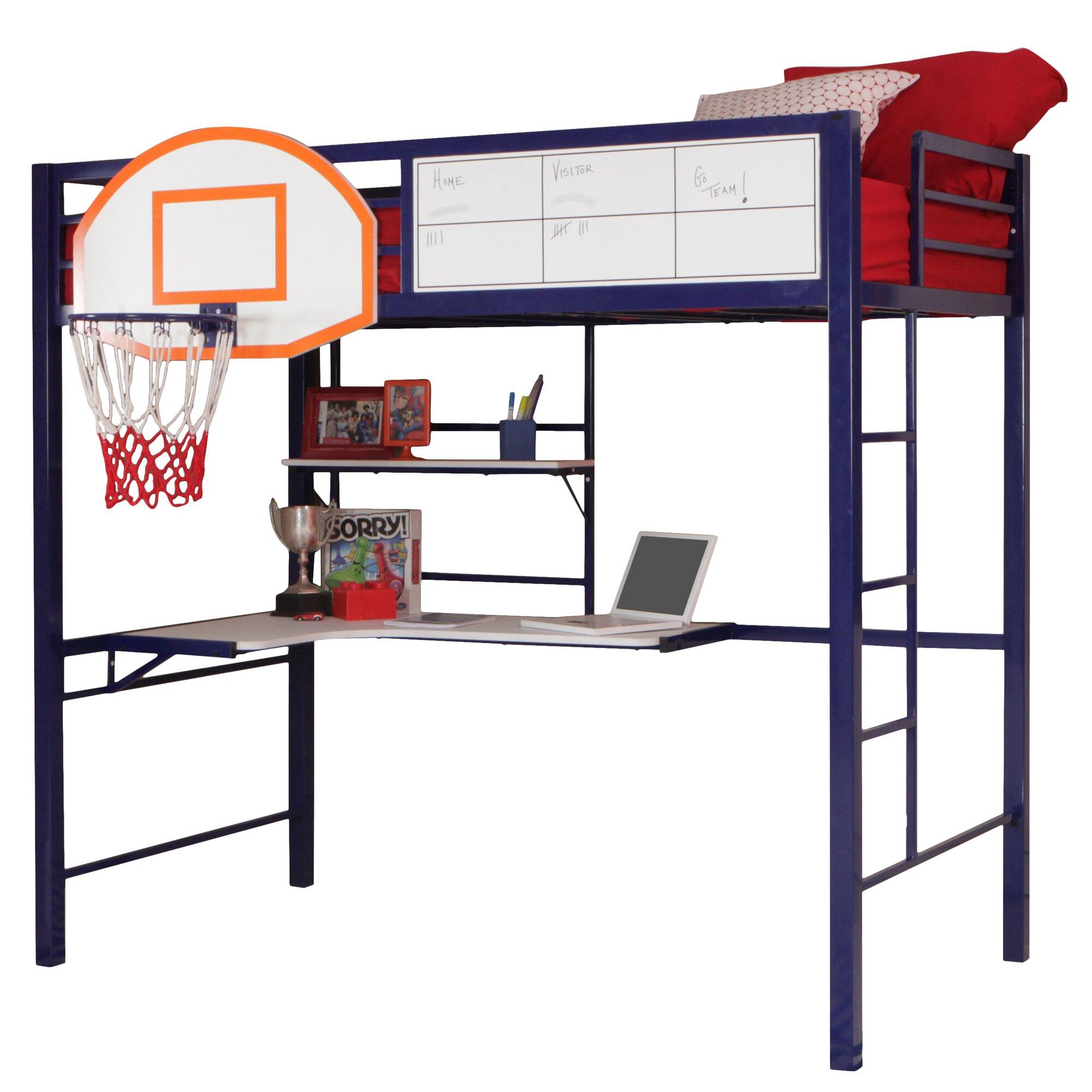 Powell Hoops Basketball Twin Loft Bed Amp Reviews Wayfair