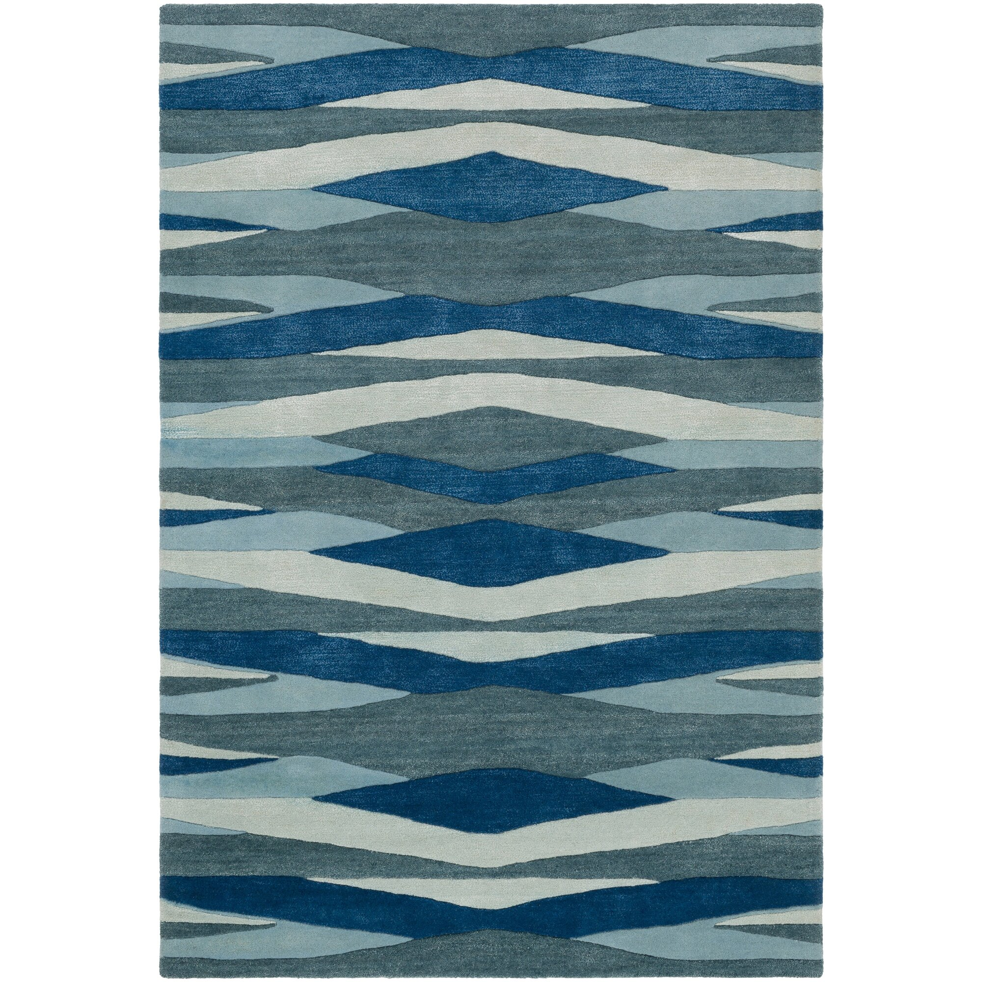 Stunning Dehart Handtufted Bright Blueteal Area Rug With Teal Area Rugs.